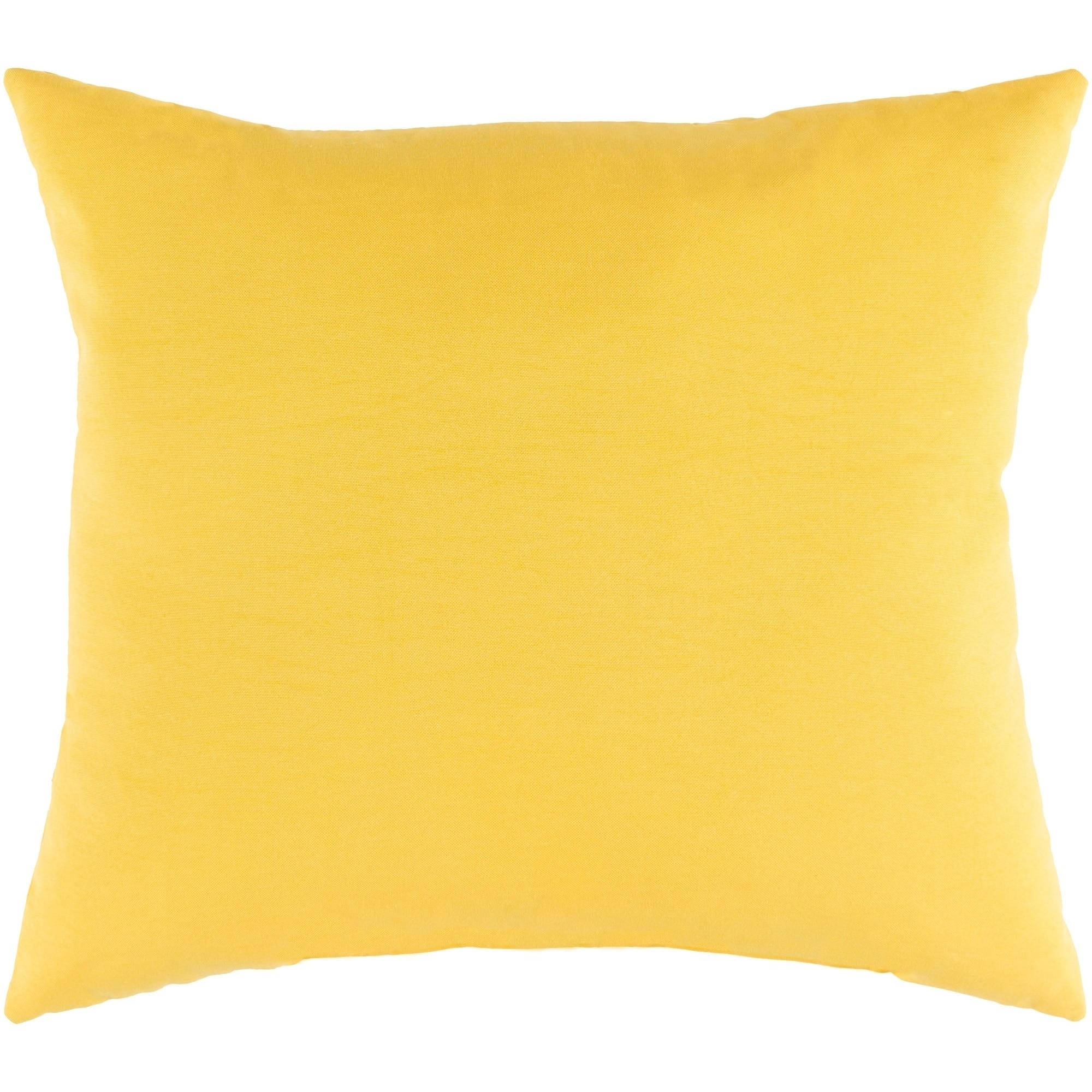 Shop Miguel Yellow Solid Indoor Outdoor Throw Pillow 16 X 16
