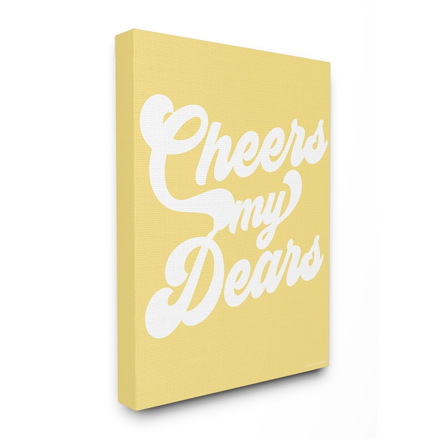 Shop The Stupell Home Décor Collection Yellow and White Retro Script ...