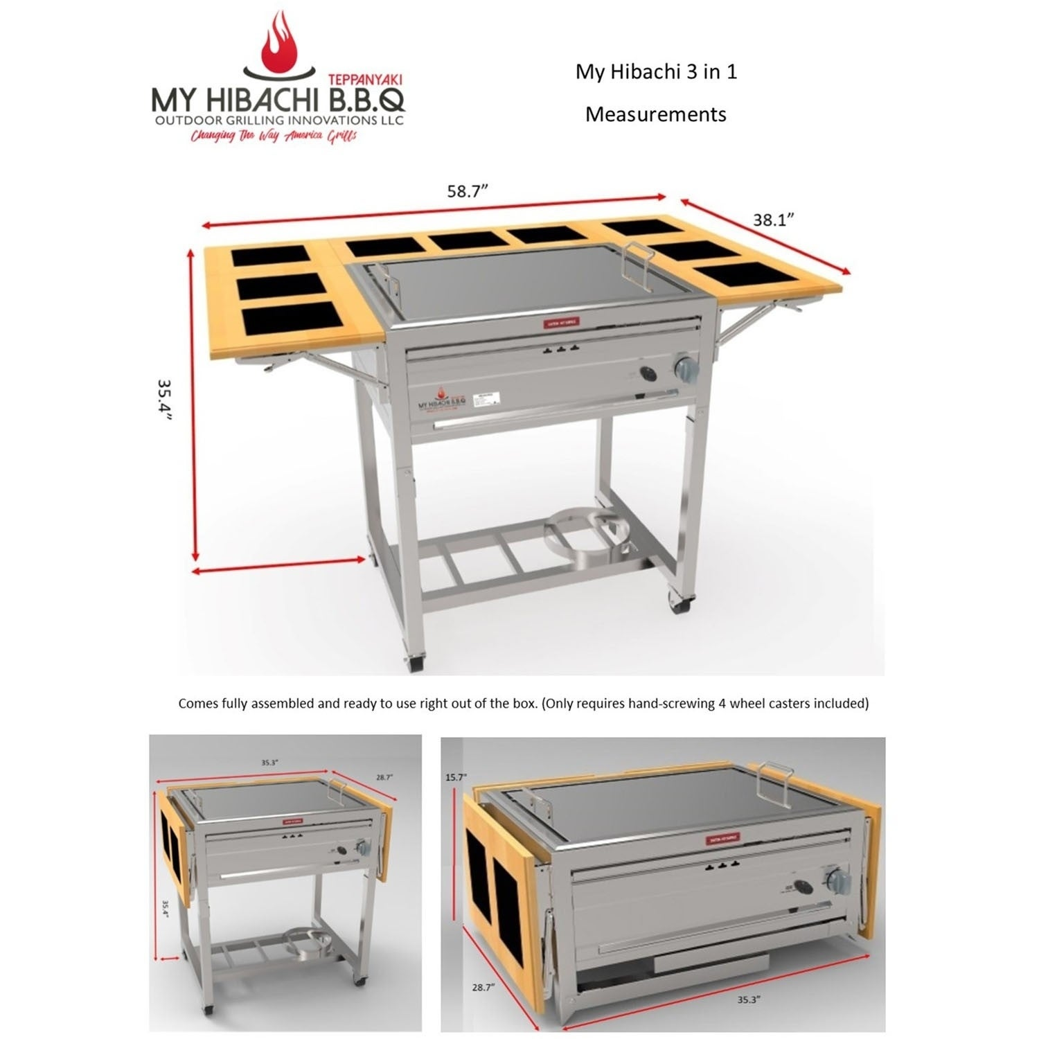 3 In 1 Sit Around Outdoor Teppanyaki Grill And Stove Top Free Shipping Today 23145484