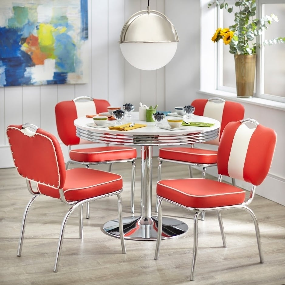 Shop Simple Living Raleigh Retro Dining Set   Free Shipping Today    Overstock.com   23154302