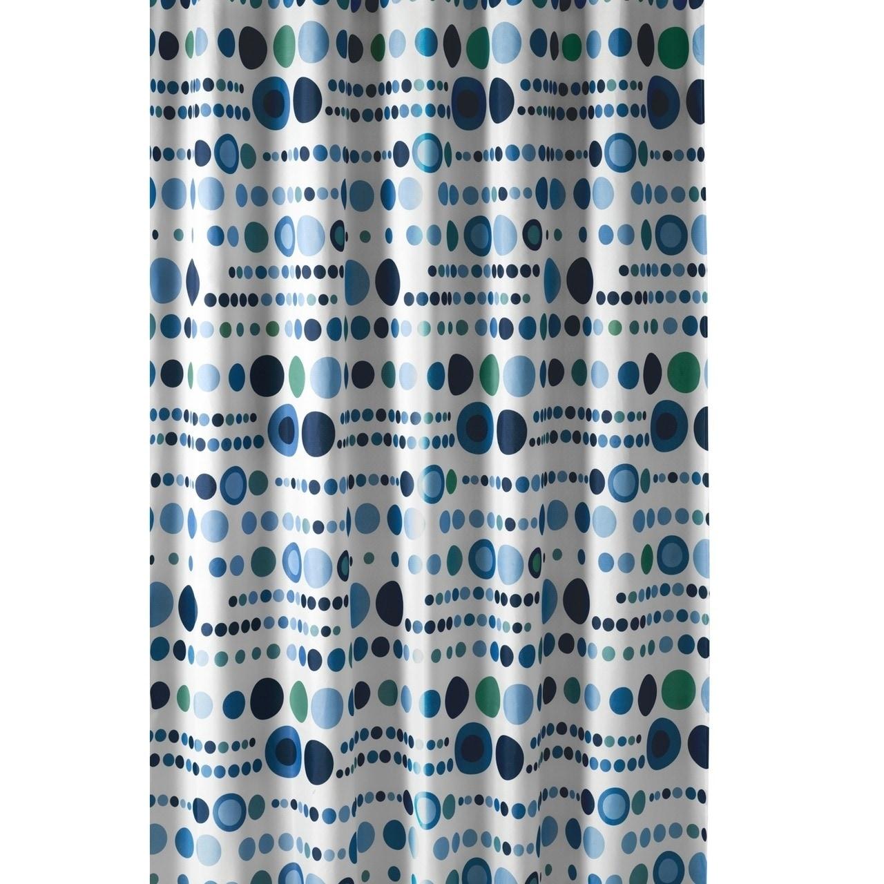 Shop Gamma Extra Long Shower Curtain 78 X 72 Inch Polka Dot Blue