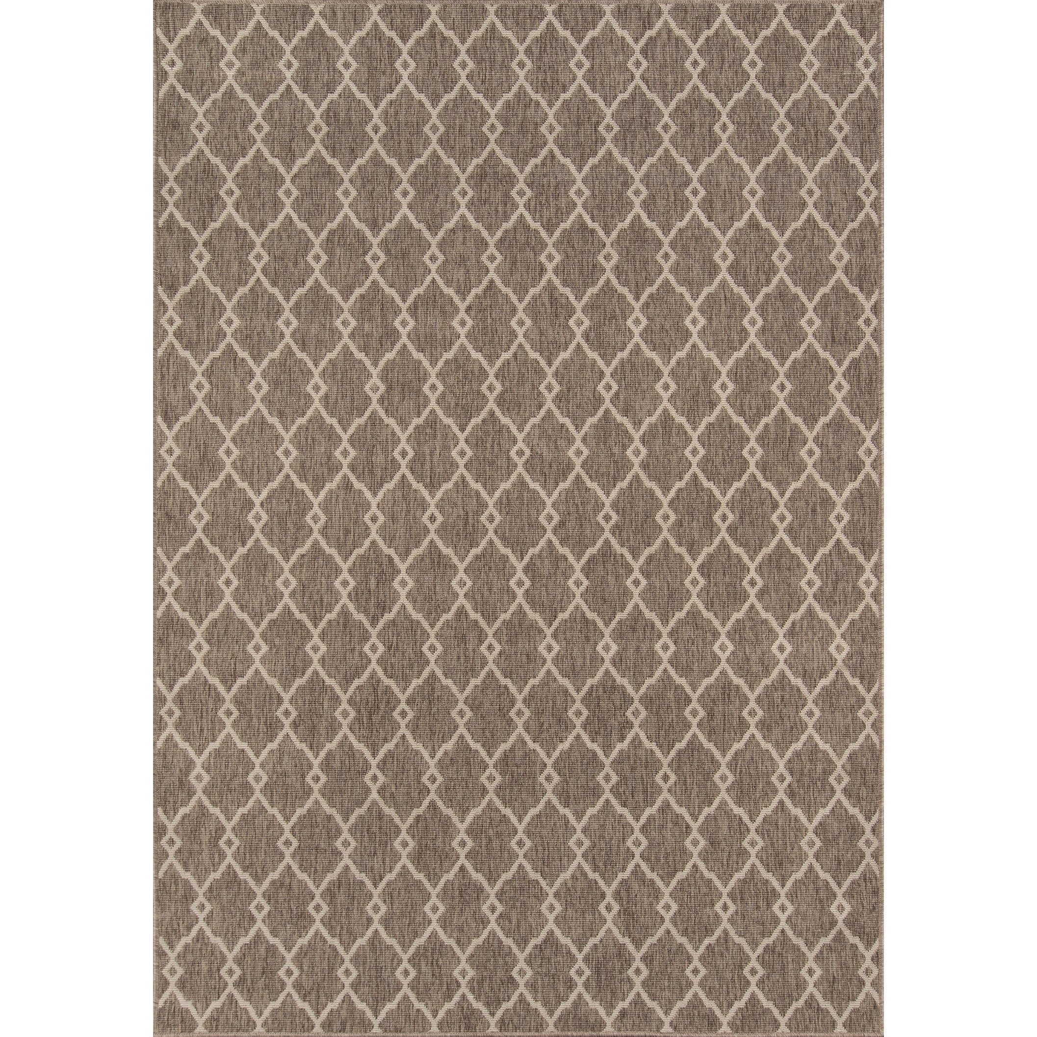Shop momeni baja trellis machine made polypropylene taupe indoor outdoor rug 86 x 13 free shipping today overstock com 23176308