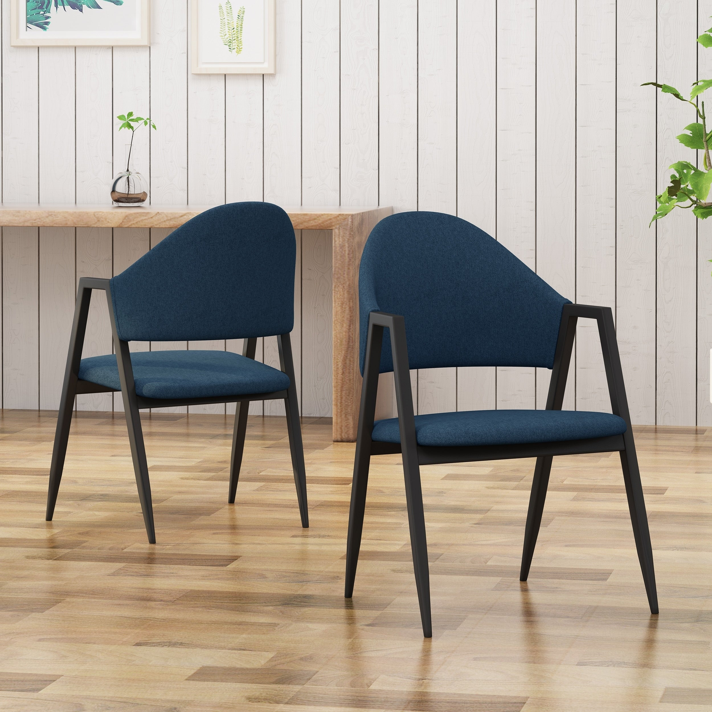 Shop elmhurst mid century modern iron legs open back dining chairs by christopher knight home on sale ships to canada overstock 23178224