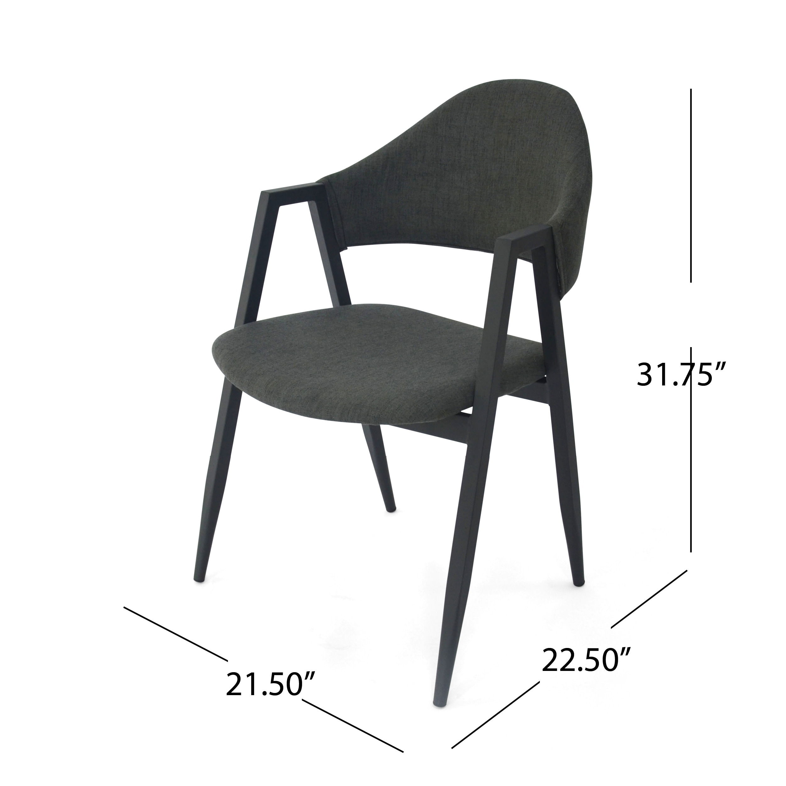 Elmhurst Mid Century Modern Iron Legs Open Back Dining Chairs By Christopher Knight Home On Free Shipping Today 23178224