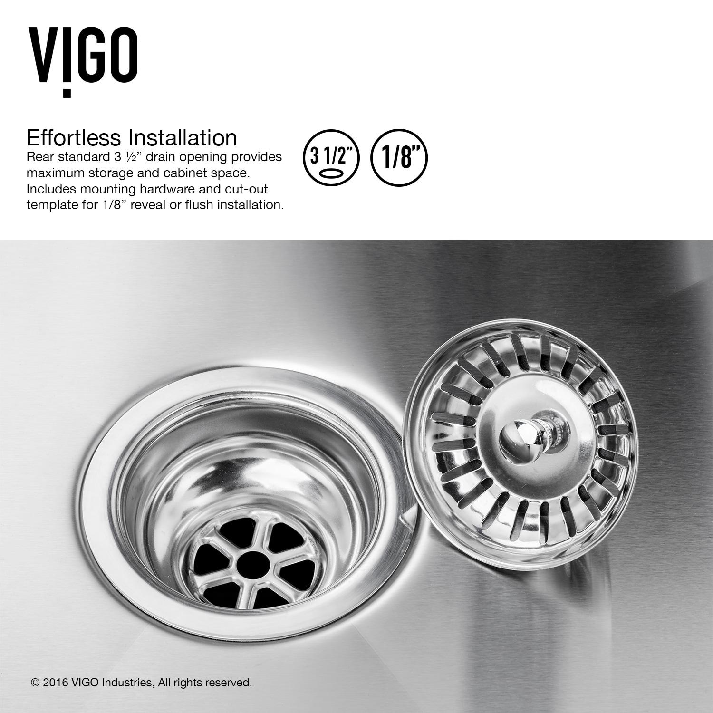 Shop VIGO 32 inch Undermount Stainless Steel 16 Gauge Double Bowl