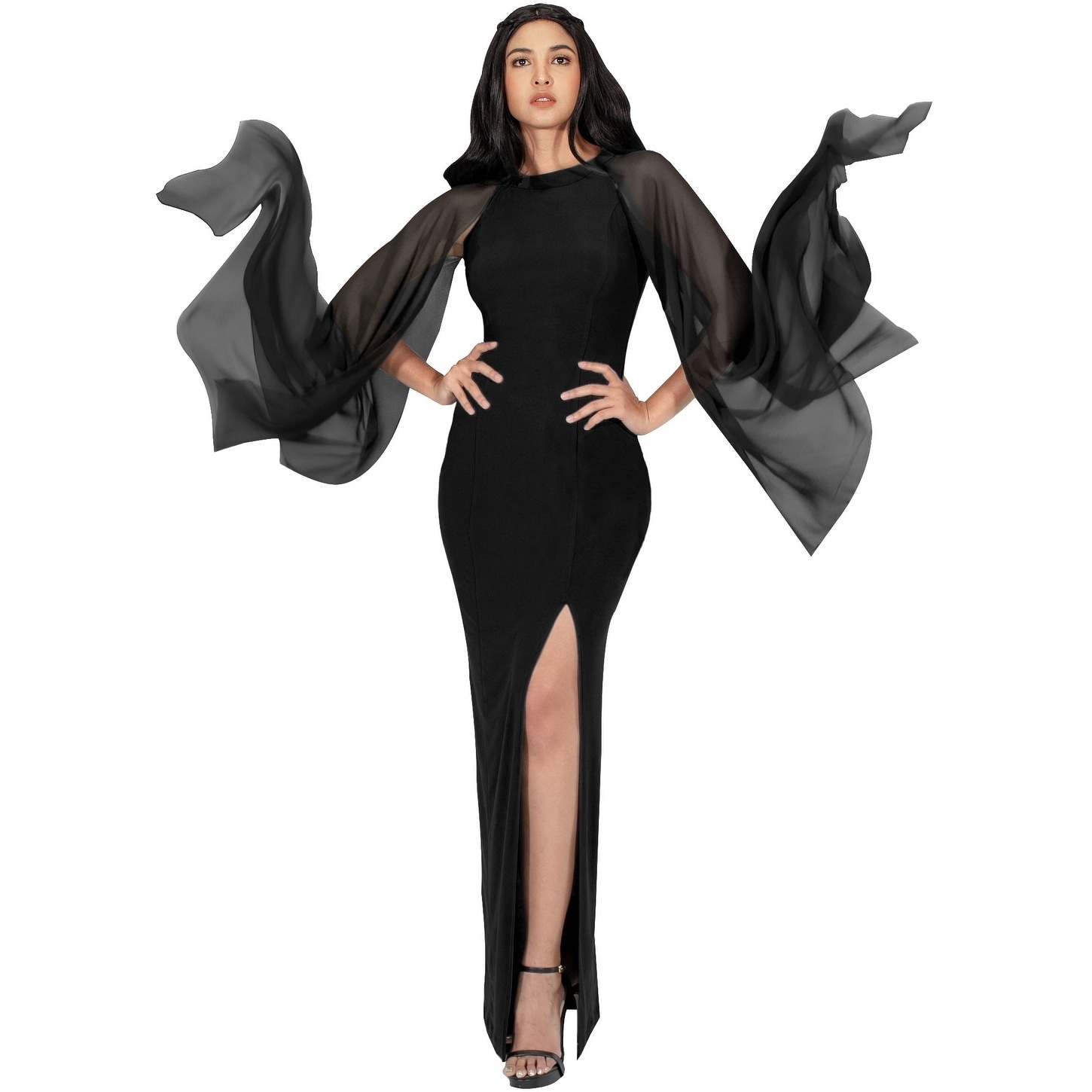 1ec56e97627bdd Shop KOH KOH Womens Formal High Slit Flowy Sleeve Floor Length Maxi ...