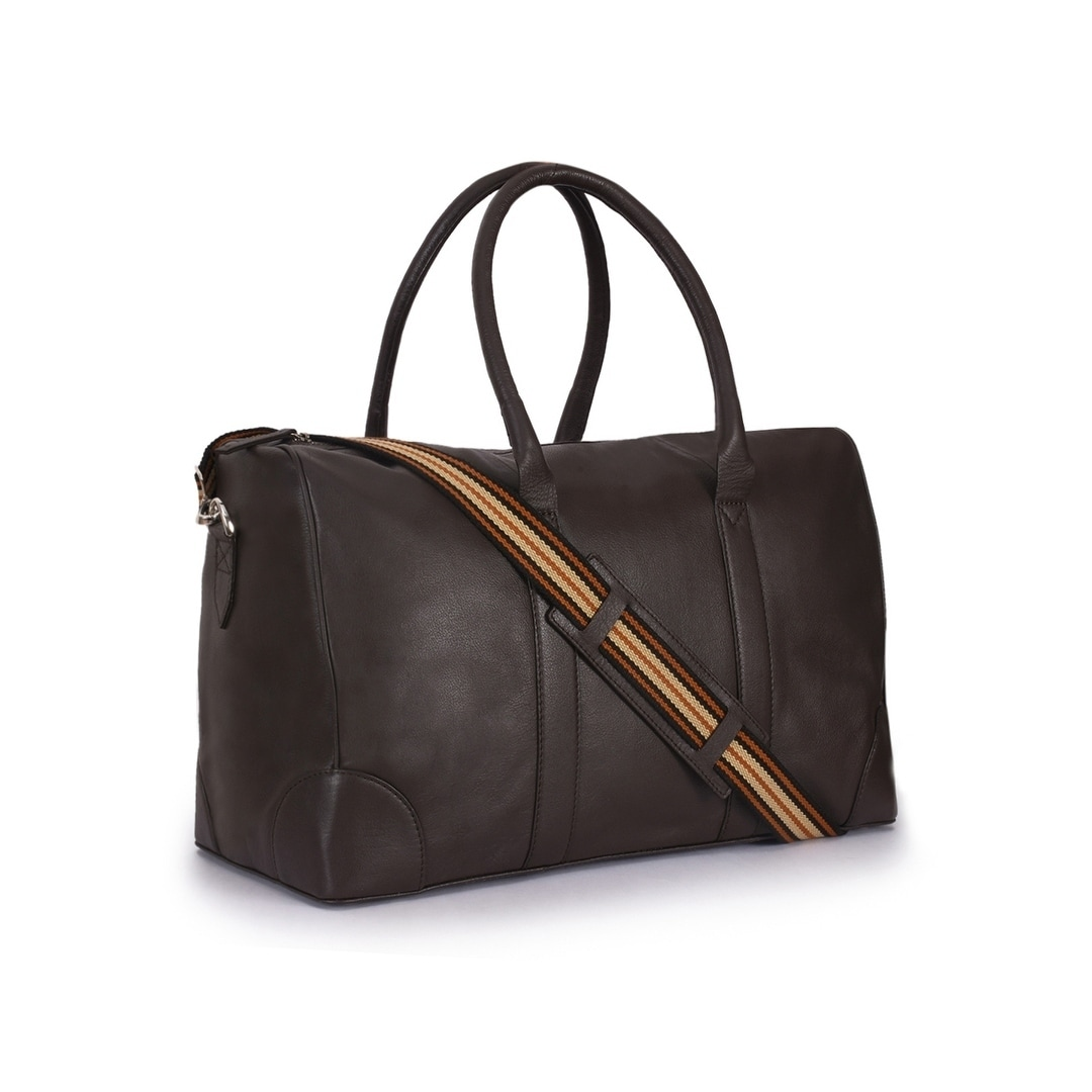 8d10dadbe46 Shop Handmade Phive Rivers Men s Leather Brown Duffle Bags (Italy) -  19x11x9 - On Sale - Free Shipping Today - Overstock.com - 23330376