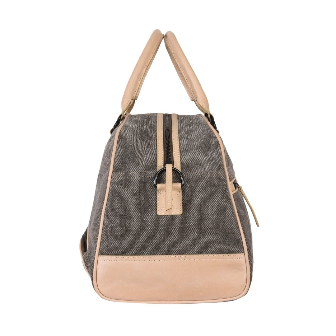 d801829985b Shop Handmade Phive Rivers Men s Leather and Canvas Olive Green Duffle Bags  (Italy) - 20x12.5x9.5 - On Sale - Free Shipping Today - Overstock.com -  23330396