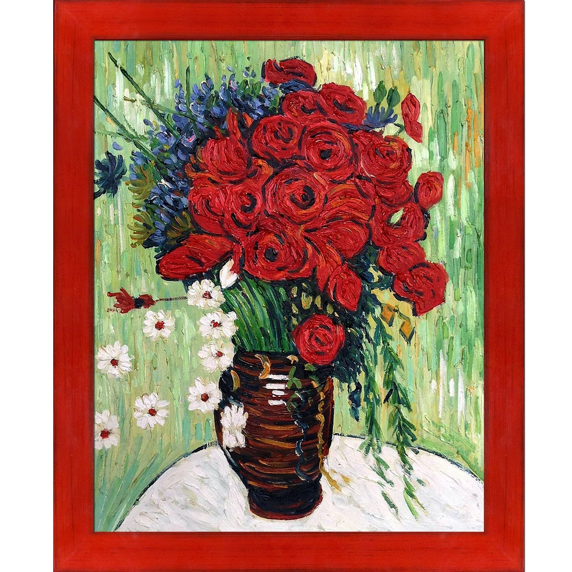 Shop Vincent Van Gogh Vase With Daisies And Poppies Hand Painted