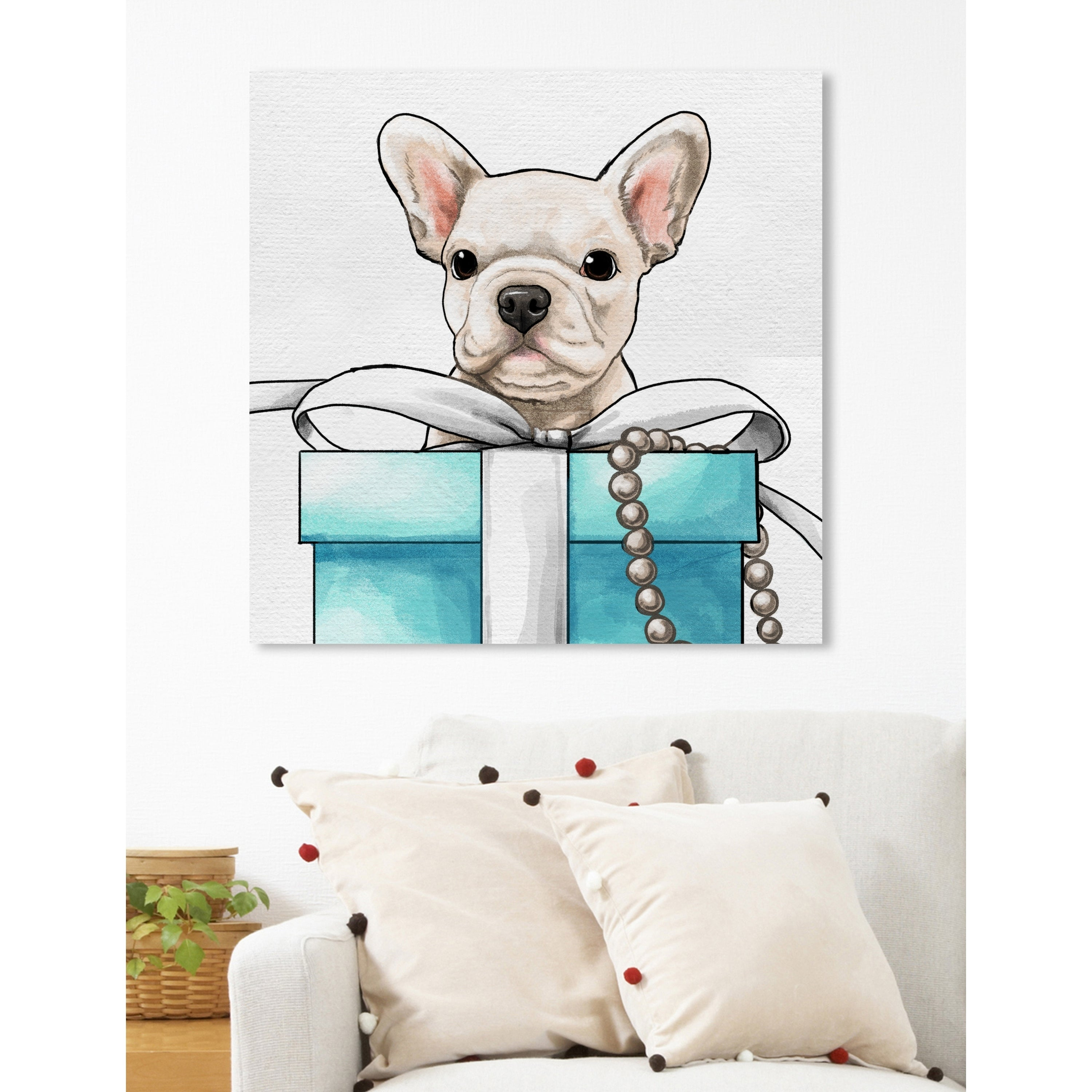 Shop Oliver Gal \'Fancy Jewel Puppy\' Dogs and Puppies Wall Art Print ...