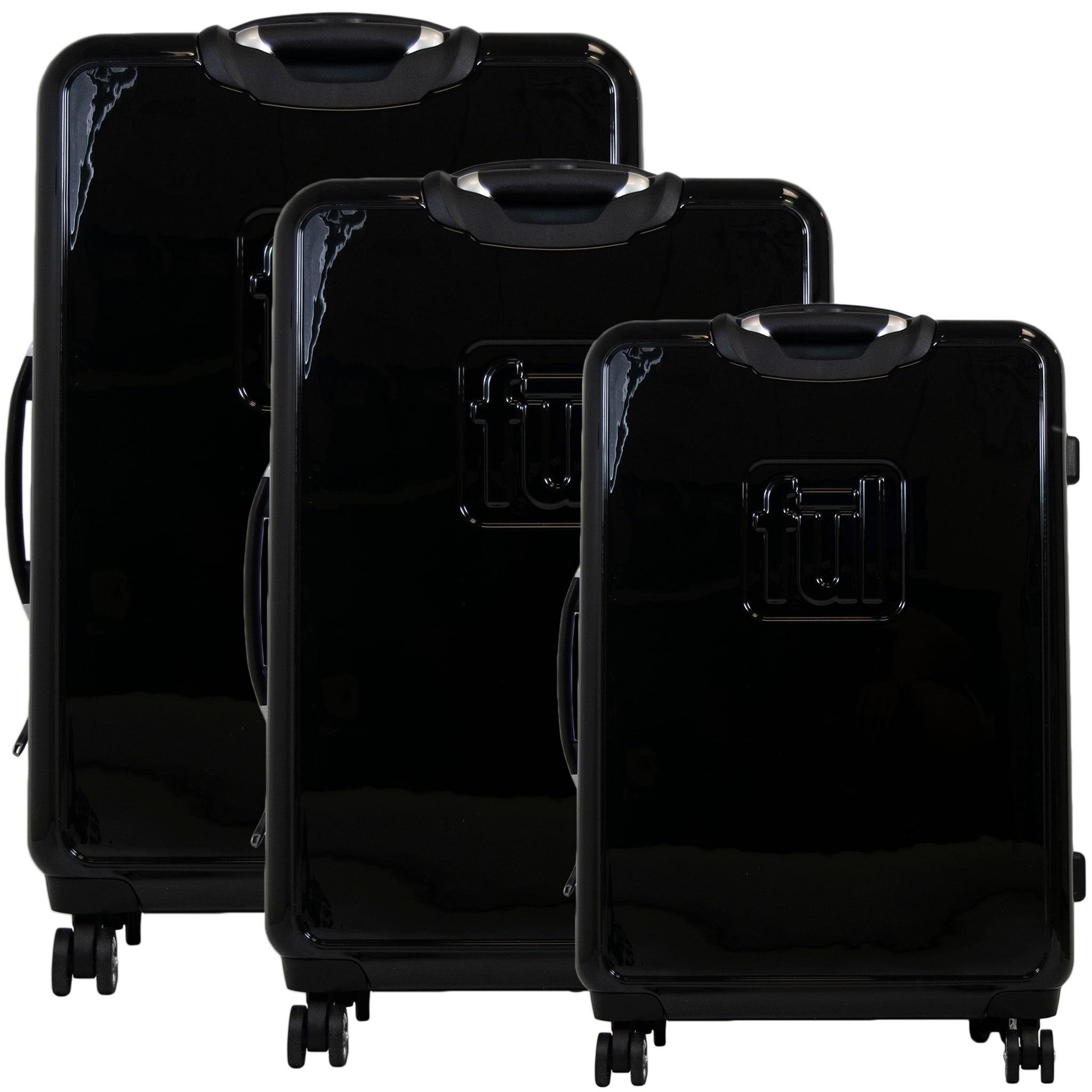 b6aad010d Shop Ful Printed Rose Hard Sided 3 Piece Luggage Set, Black - 29