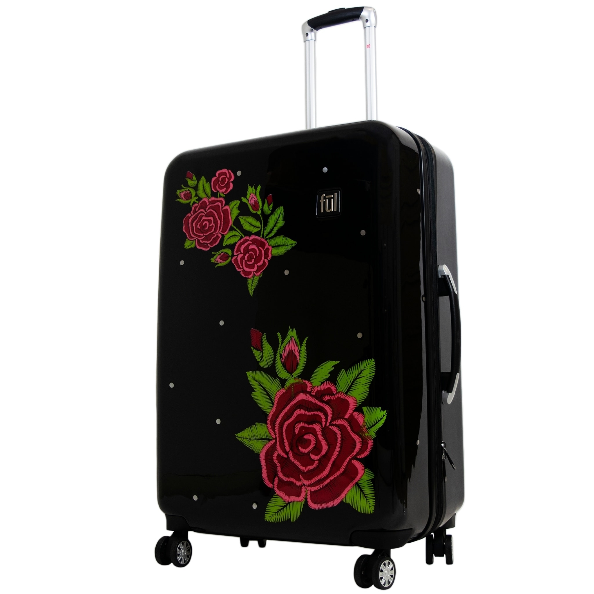 b8e814bcf Shop Ful Printed Rose 29in Hard Sided Rolling Luggage, Black - 29 - On Sale  - Free Shipping Today - Overstock - 23387115