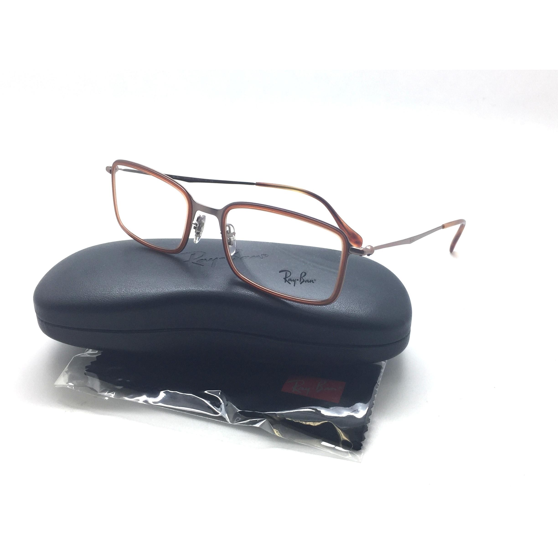 8791cf42e4 Shop RAY BAN Highstreet Gloss Brown Metal Eyeglasses RB 6298 2811 53 145 -  Free Shipping Today - Overstock - 23387147