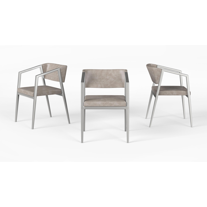 Shop B Modern Social Armchair Tan Stainless Steel Free Shipping