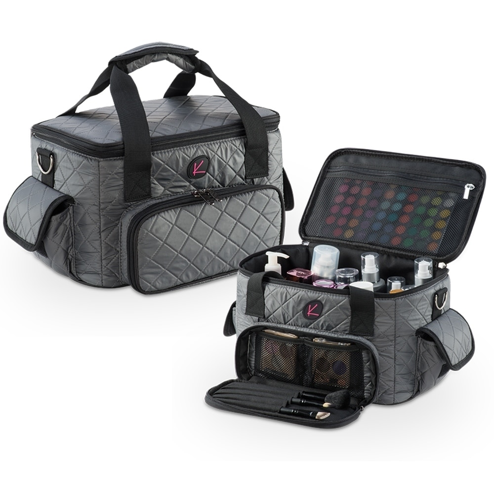 Kiota Pro Quilted Makeup Artist Cosmetic Travel Bag And Clear Pouches Free Shipping Today 23442729