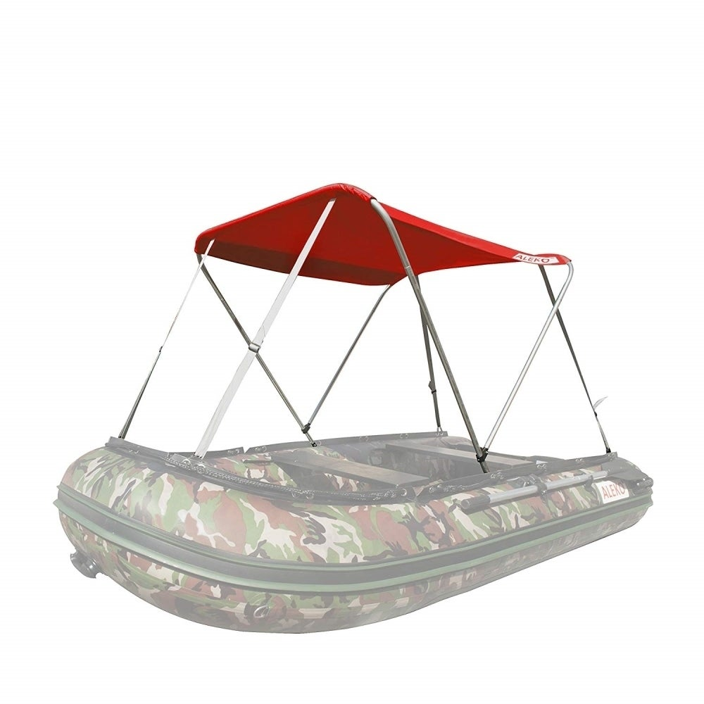 ALEKO Summer Canopy Red Tent for 8 4 ft Inflatable Boats