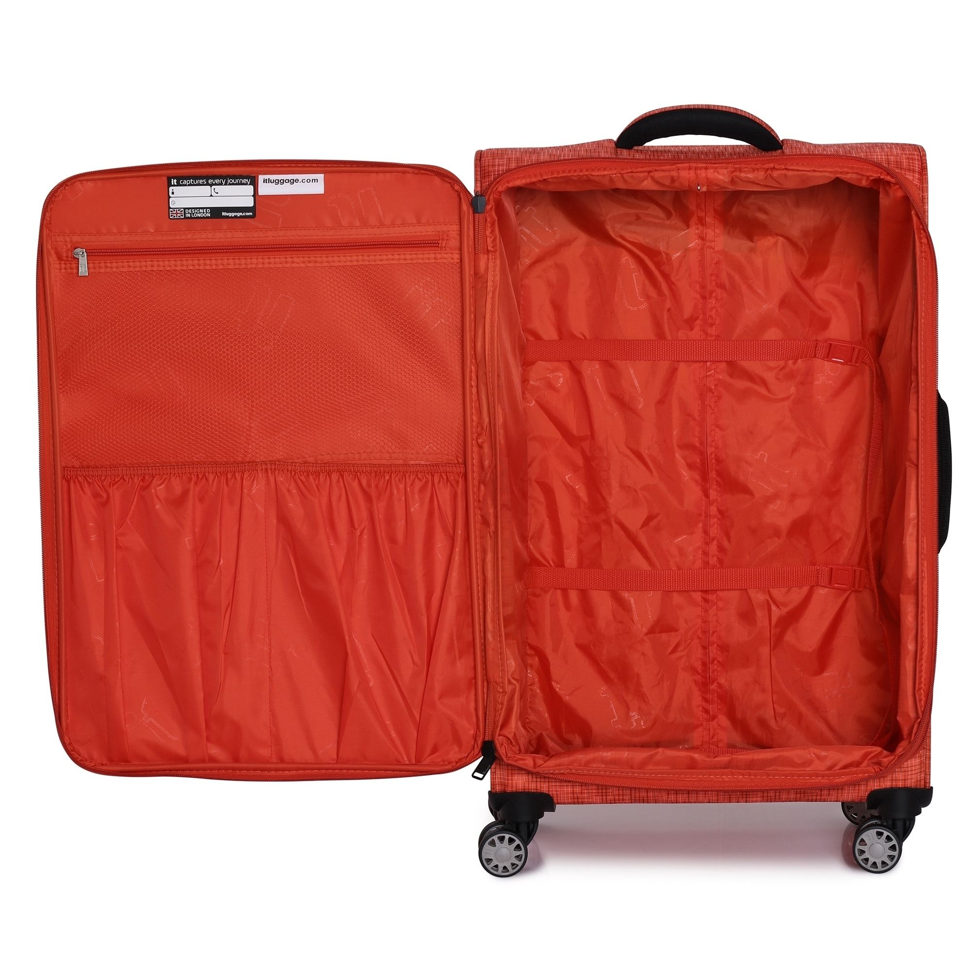 Shop it luggage Stitched Squares 30.5-inch Lightweight Expandable Spinner Suitcase - On Sale - Free Shipping Today - Overstock.com - 23444391