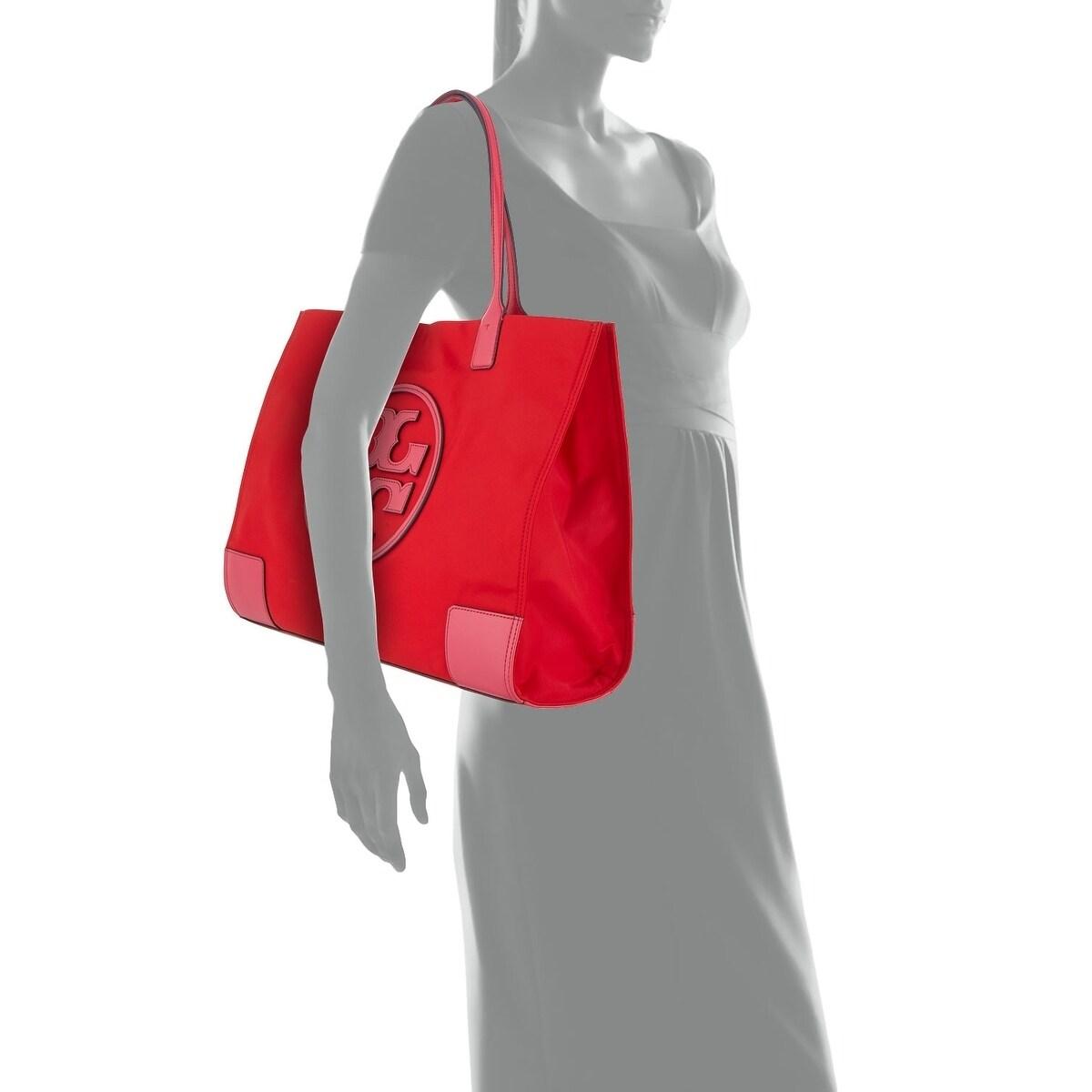 75c34b71b02 Shop Tory Burch Ella Color-Block Red Bright Azalea - Free Shipping Today -  Overstock - 23444445