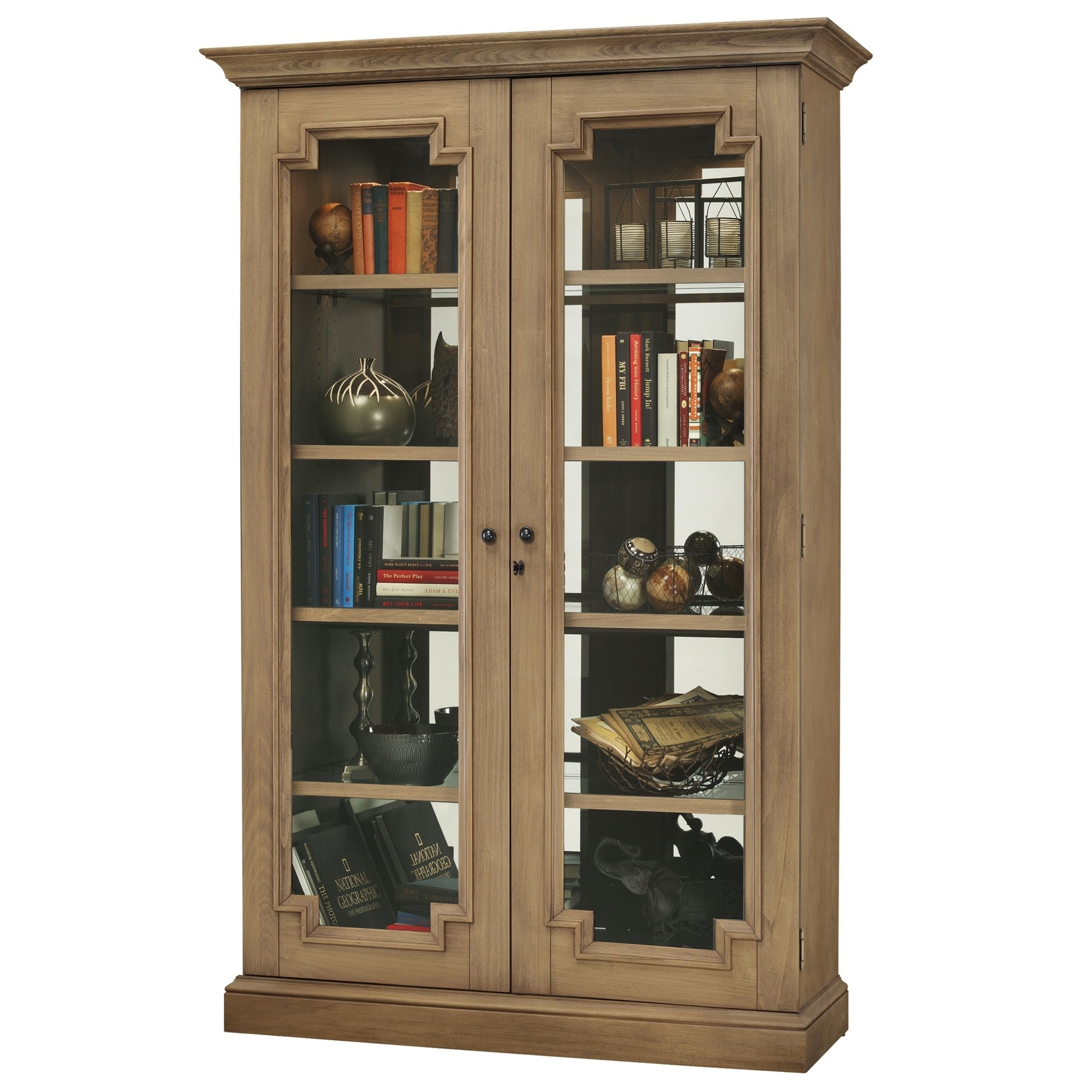 Howard Miller Desmond Iv Light Brown Wood 5 Shelf Curio Cabinet Free Shipping Today 23449337