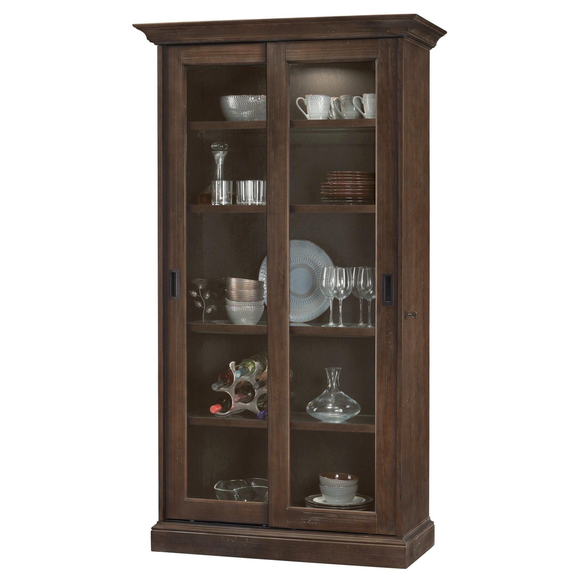 Shop Howard Miller Meisha Contemporary Aged Umber Wood Tall 5 Shelf