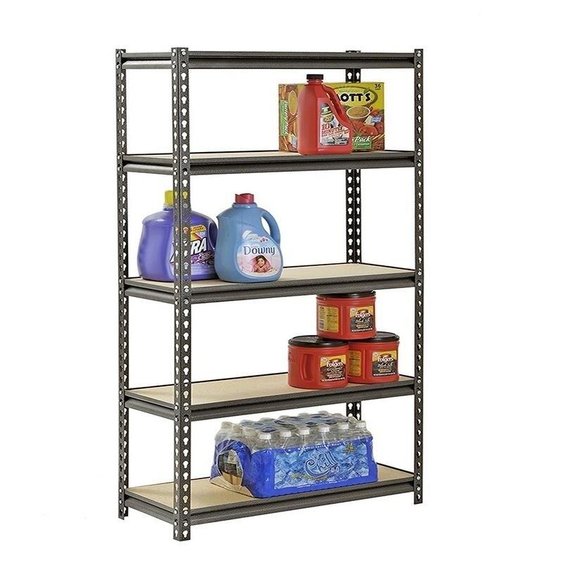 5 Tier Heavy Duty Storage Shelf Garage Shelving Unit Bookcase 2 Colors