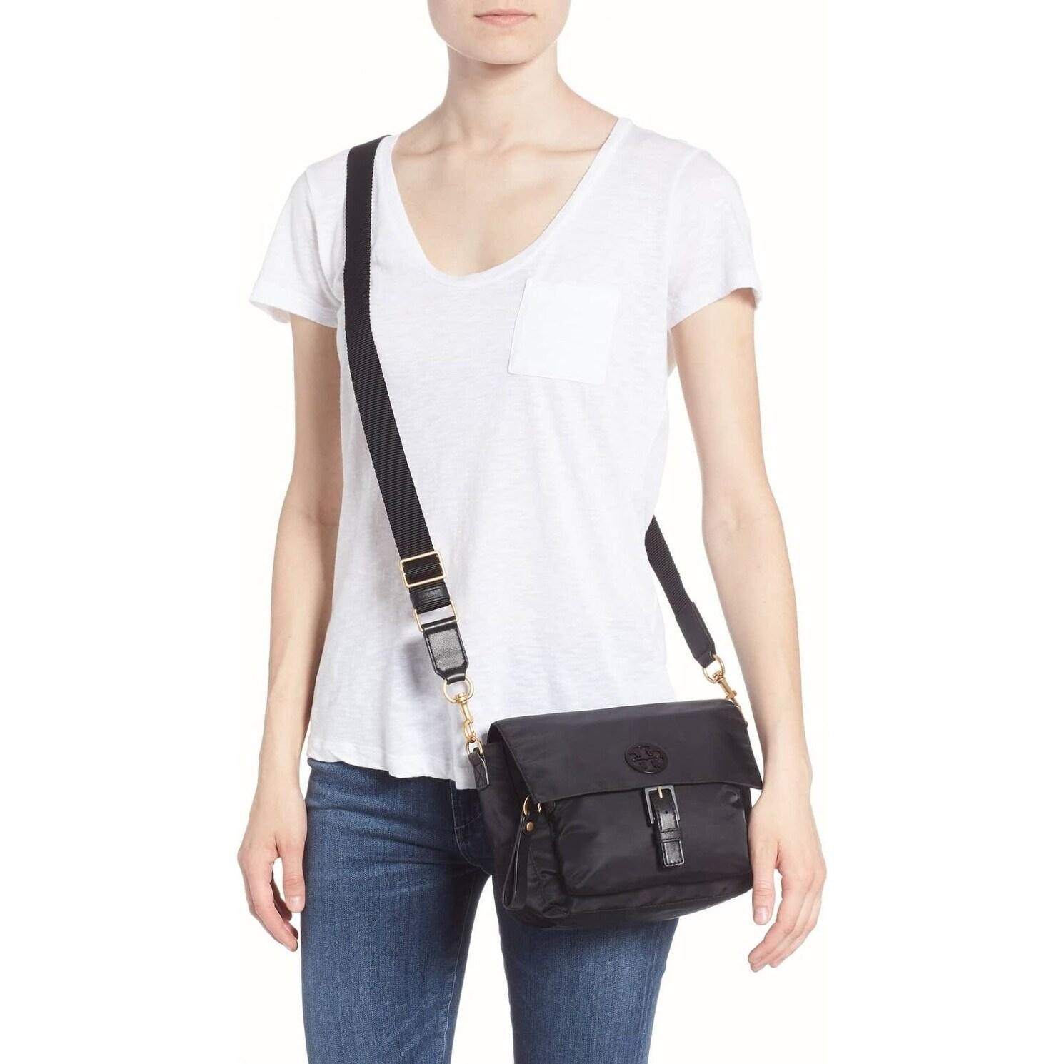 4f204c2b2f7 Shop Tory Burch Tilda Nylon Crossbody Bag Black - Free Shipping Today -  Overstock - 23449864