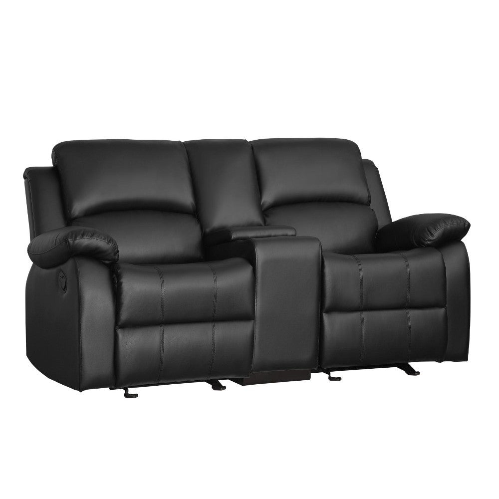 Double Seater Glider Recliner Love Seat With Console Black Free Shipping Today 23459250
