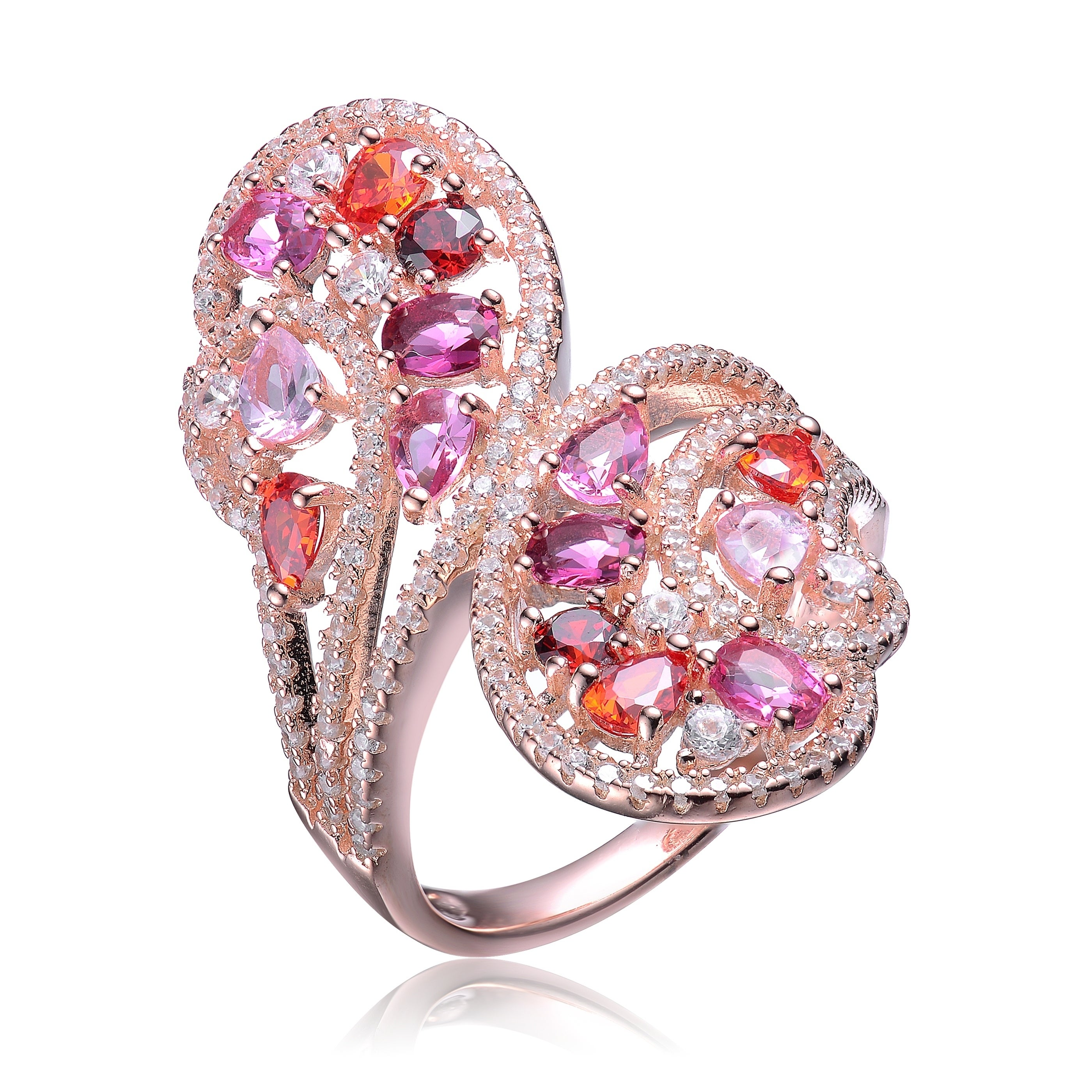 Shop Collette Z Sterling Silver with Rose Gold Plated Multi Colored ...
