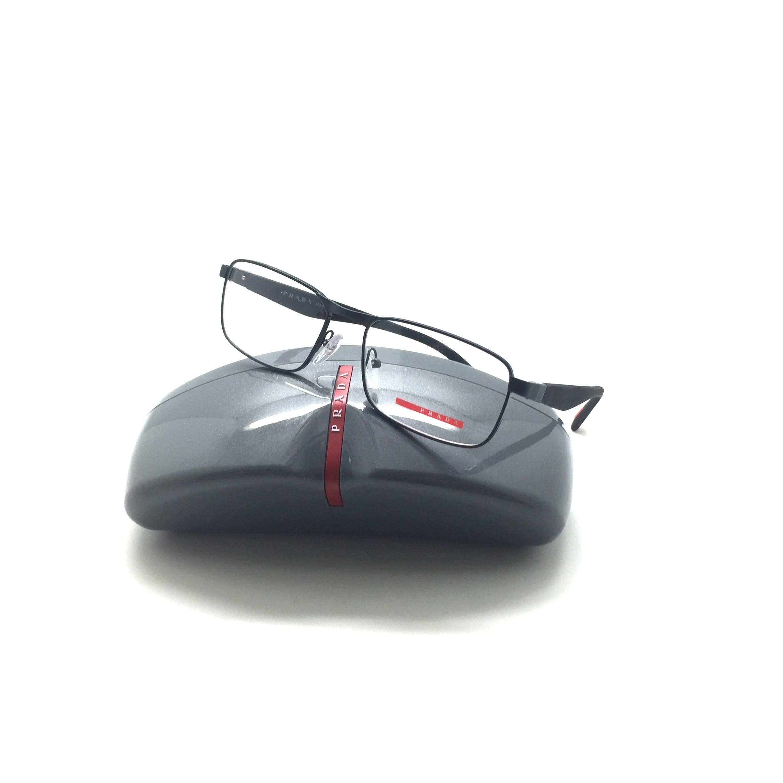 44f9da58aa5 Shop PRADA SPORT Black Metal VPS 51G VPS51G 7AX-1O1 54mm Men s Eyeglasses  Frame - Free Shipping Today - Overstock - 23463296