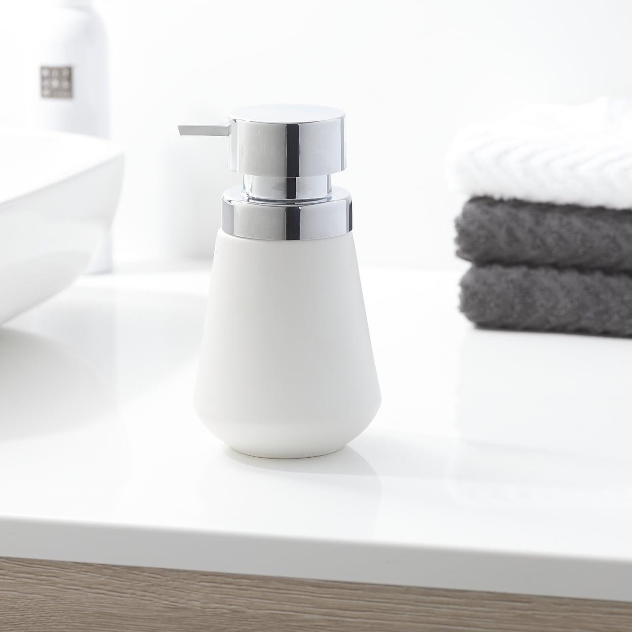 Shop Sealskin 3 Piece Bathroom Accessories Set Conical Chrome White