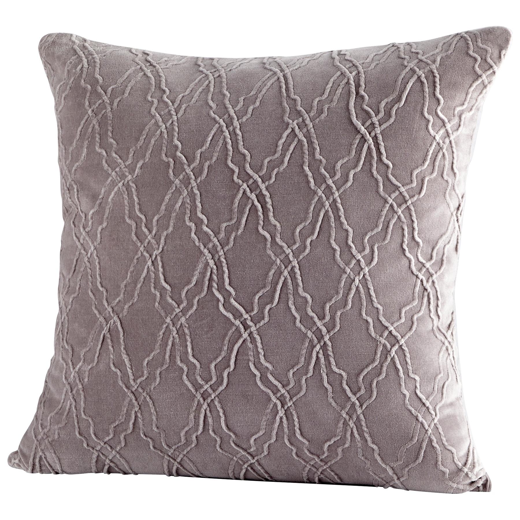 Shop rivori handmade grey accent pillow free shipping today overstock com 23479812