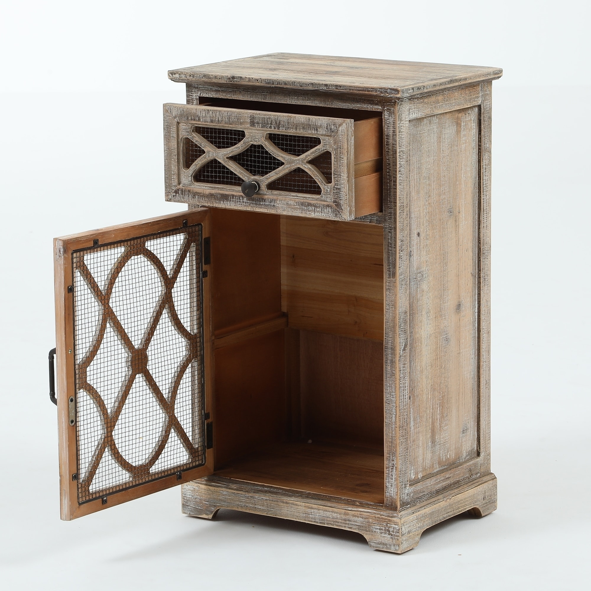 Shop Rustic Wood And Metal Small Console Cabinet   On Sale   Free Shipping  Today   Overstock.com   23488882