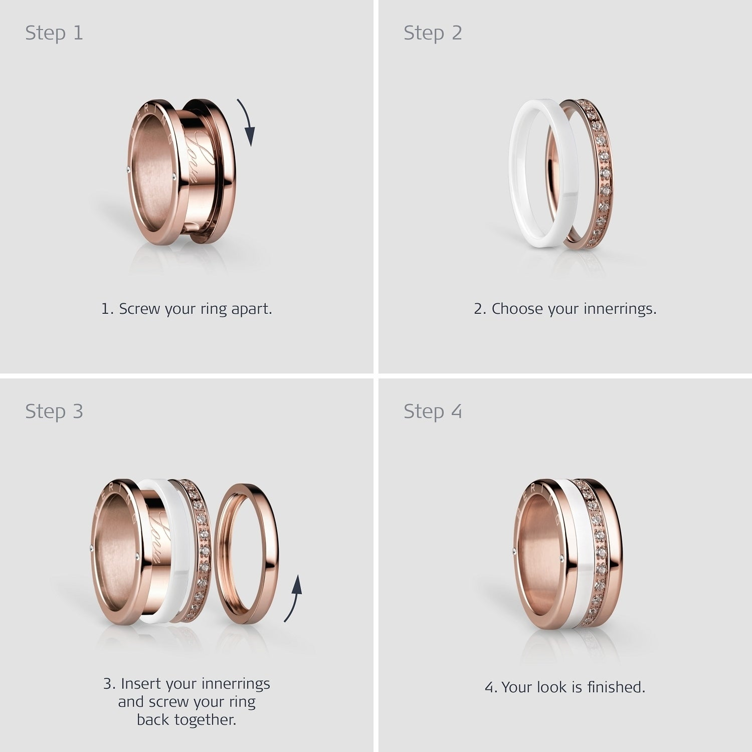 BERING Inner Ring  Interchangeable Mix & Match Rings - 562-30-X0