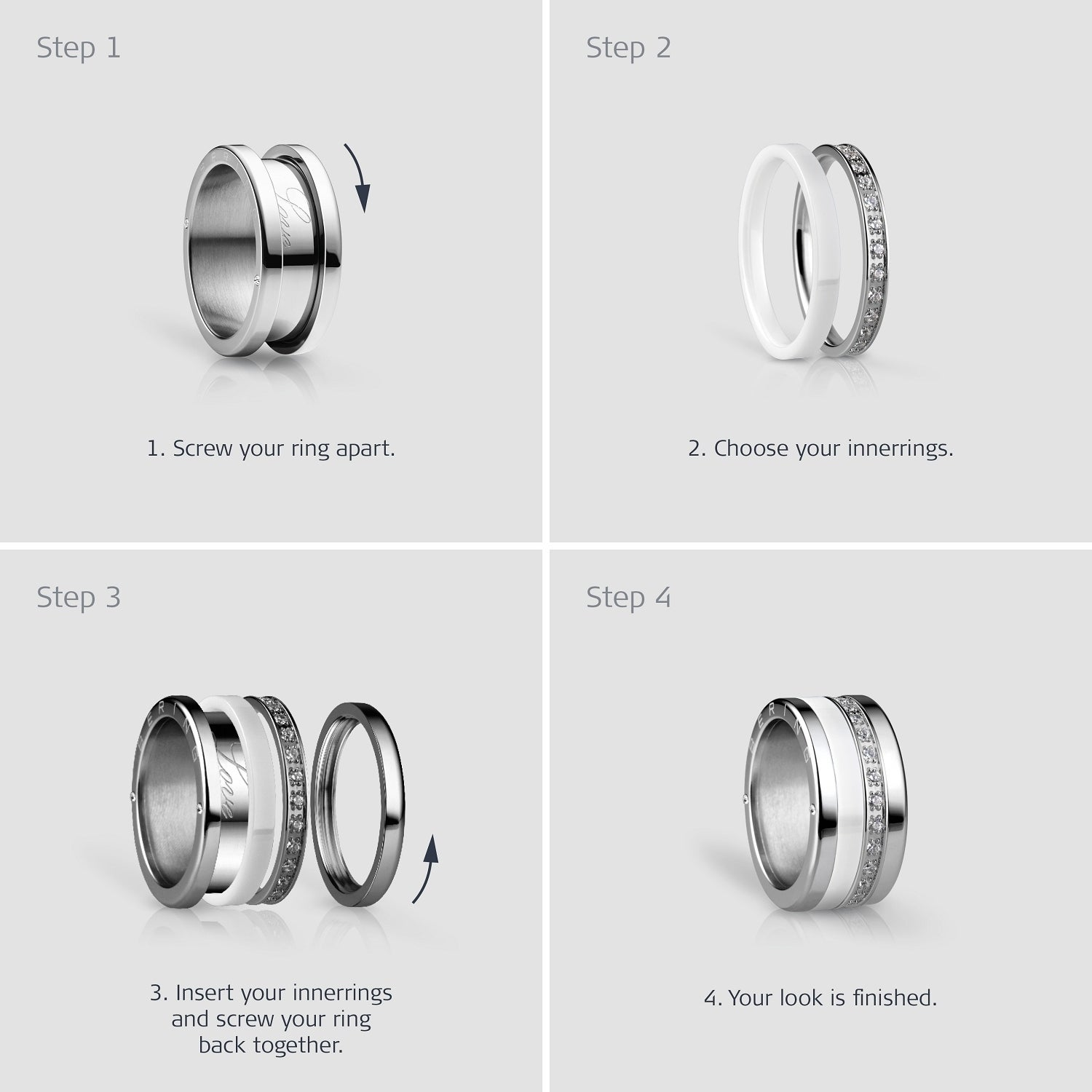 BERING Inner Ring  Interchangeable Mix & Match Rings - 554-60-X1
