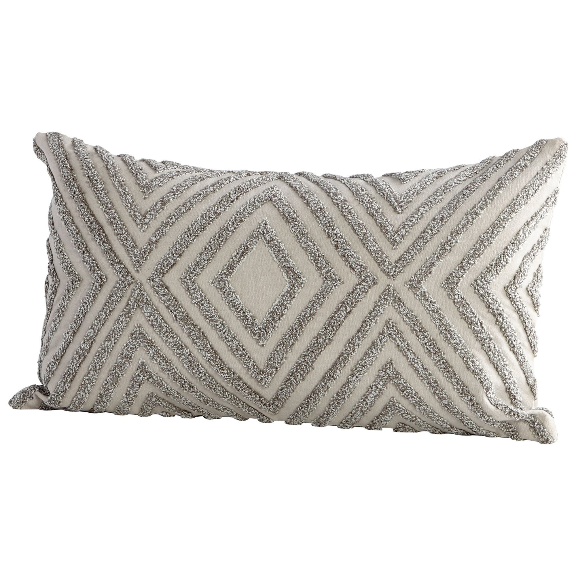 Shop diamond hedge beige handmade cotton accent pillow free shipping today overstock com 23499888