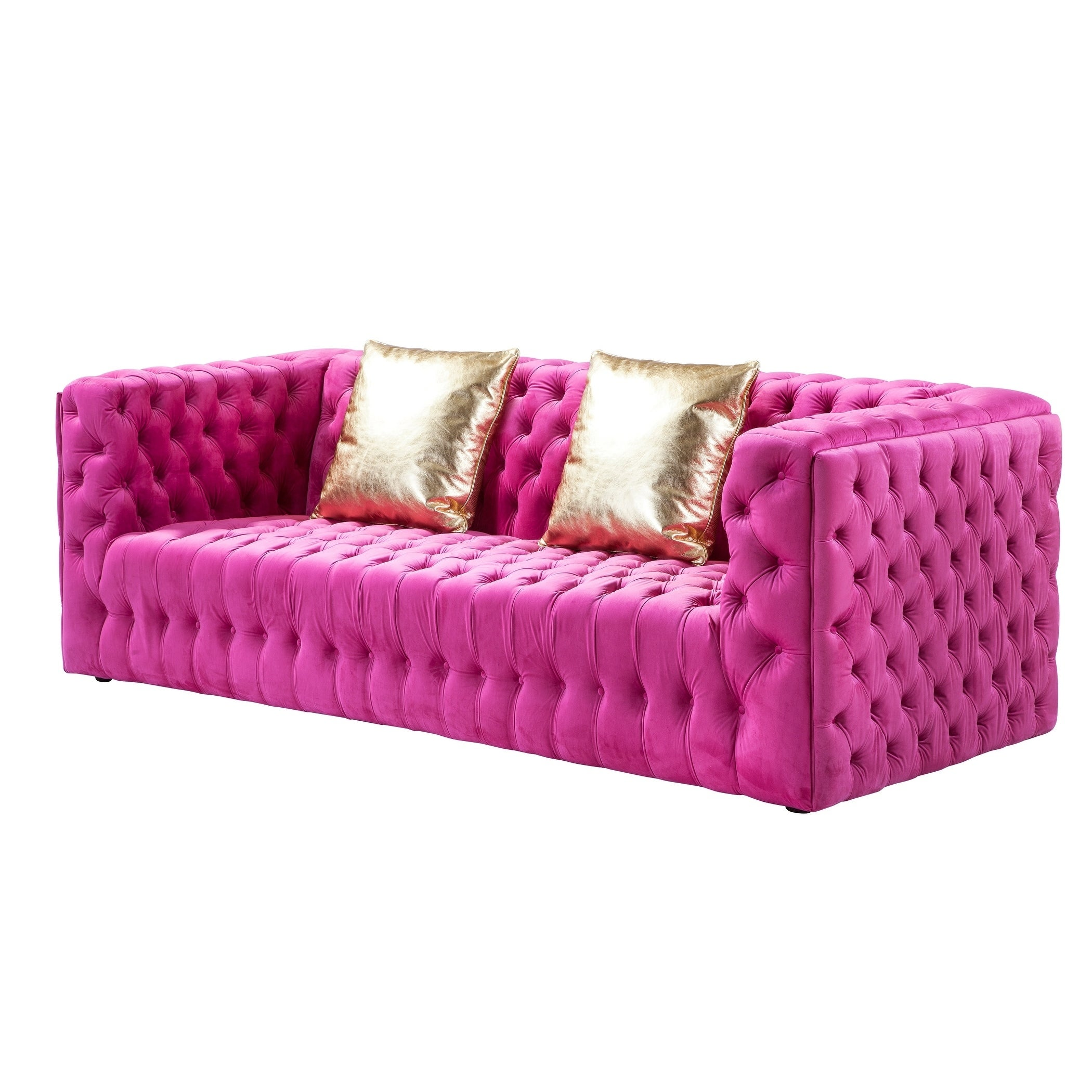Pasargad vicenza collection velvet tufted sofa