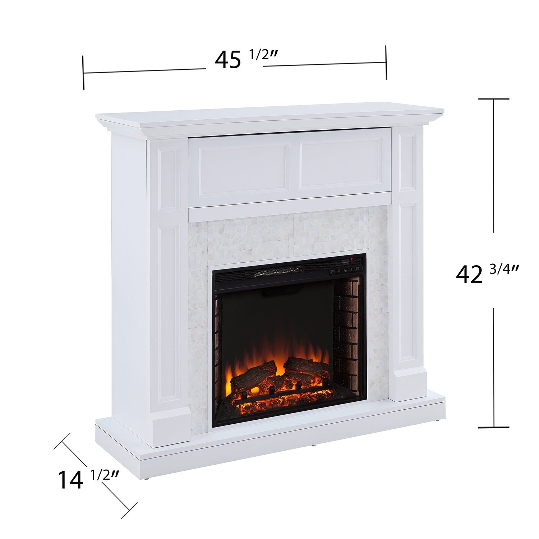 Shop Harper Blvd Viridian Tiled Media Electric Fireplace Console