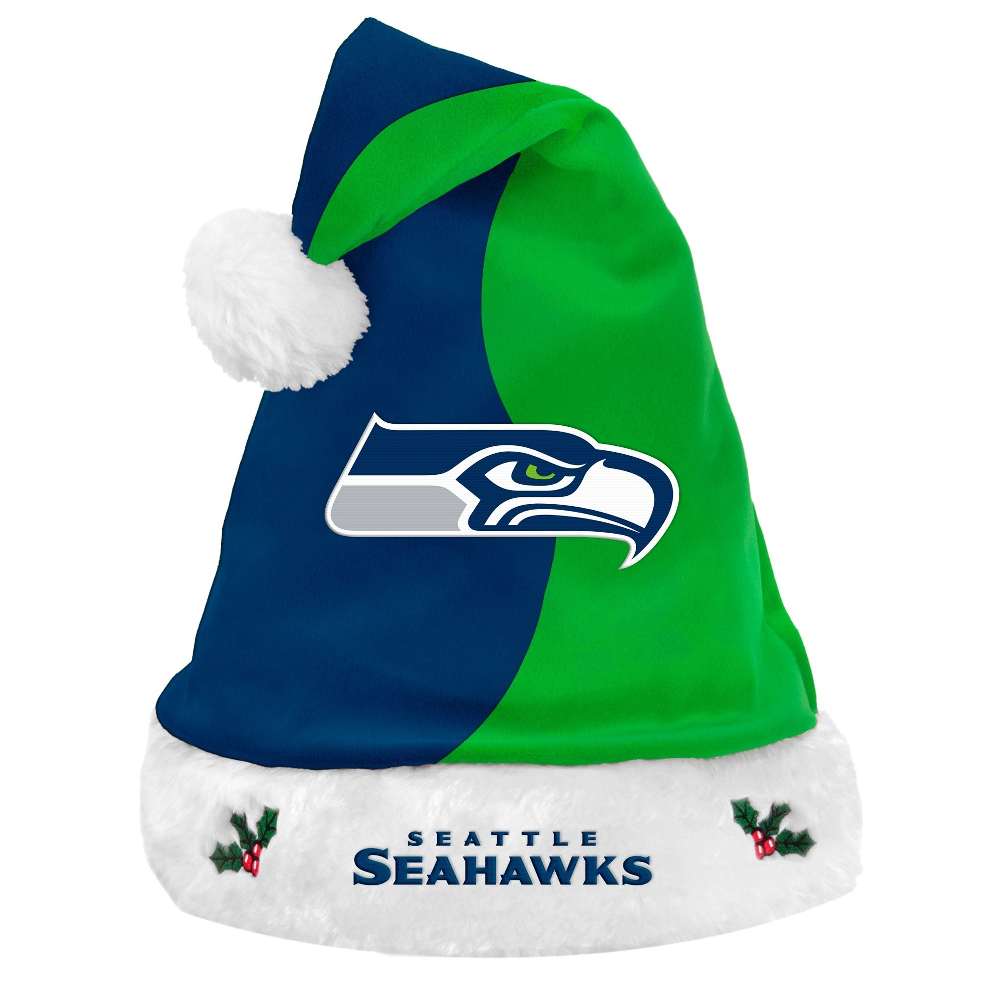 online store 3bbc6 120dd Shop Seattle Seahawks NFL 17-inch Santa Hat - multi - Free Shipping On Orders  Over  45 - Overstock - 23502101