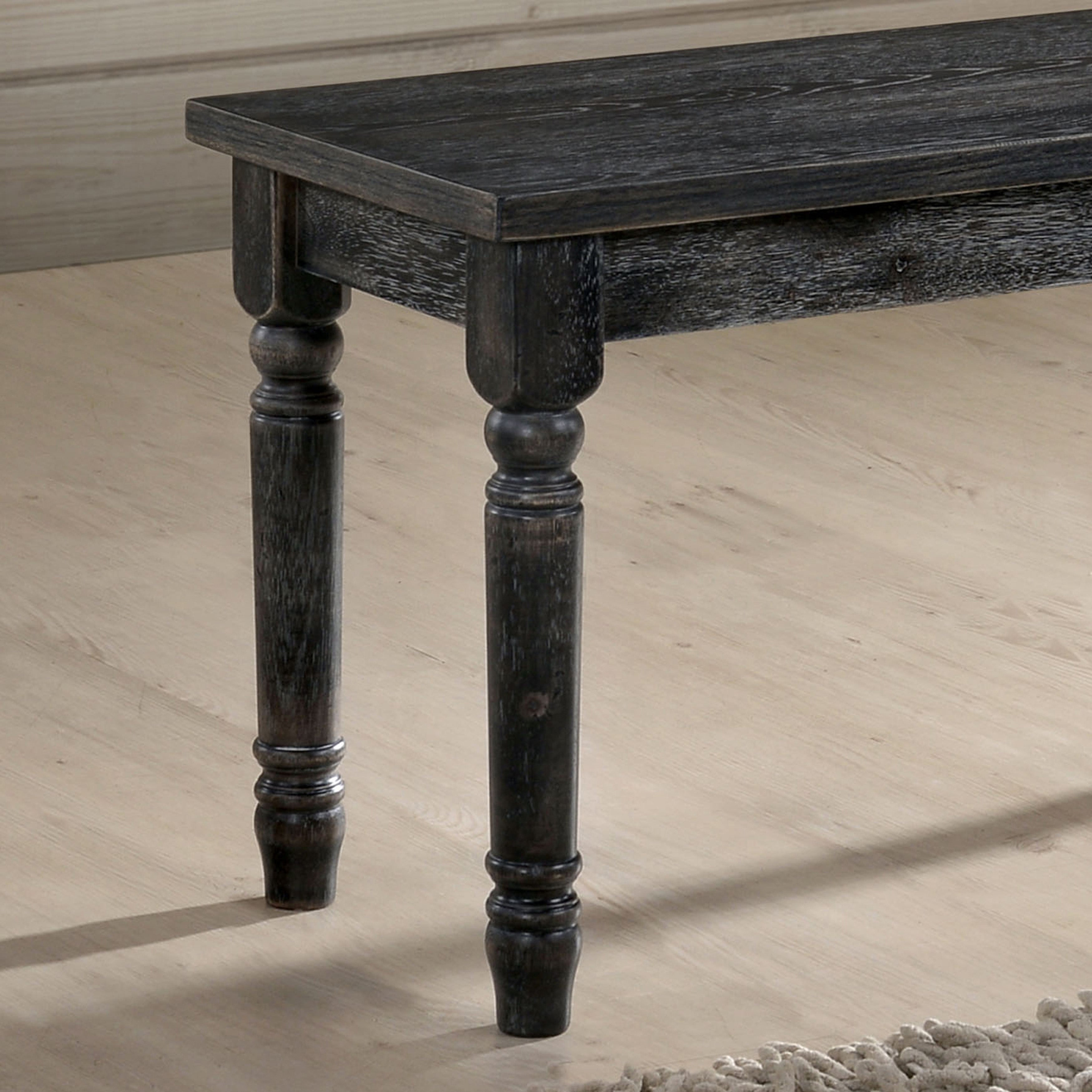 Shop Furniture Of America Sadler Rustic 40 Inch Grey Dining Bench