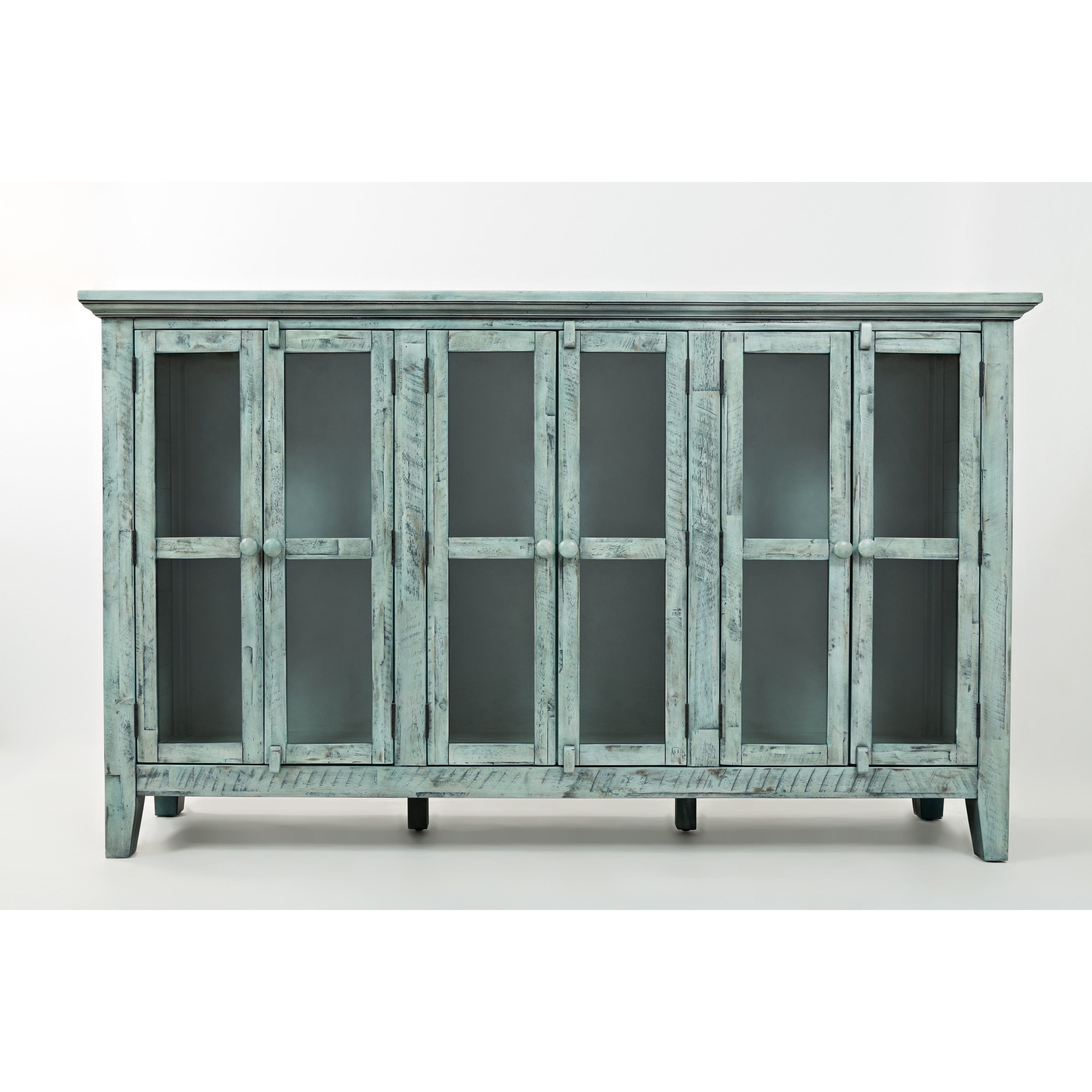Shop wood accent cabinet with 6 doors in distressed finish blue on sale free shipping today overstock com 23503651