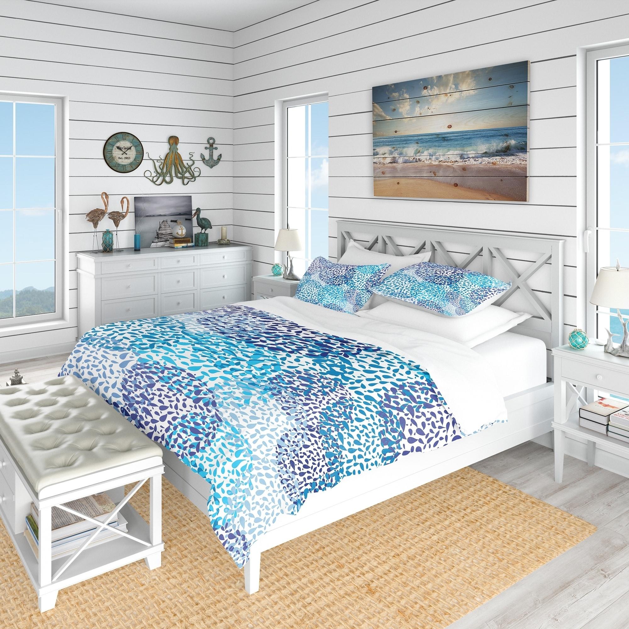 Charmant Designart U0027Sea Motif Patternu0027 Nautical U0026 Coastal Bedding Set   Duvet Cover  U0026 Shams