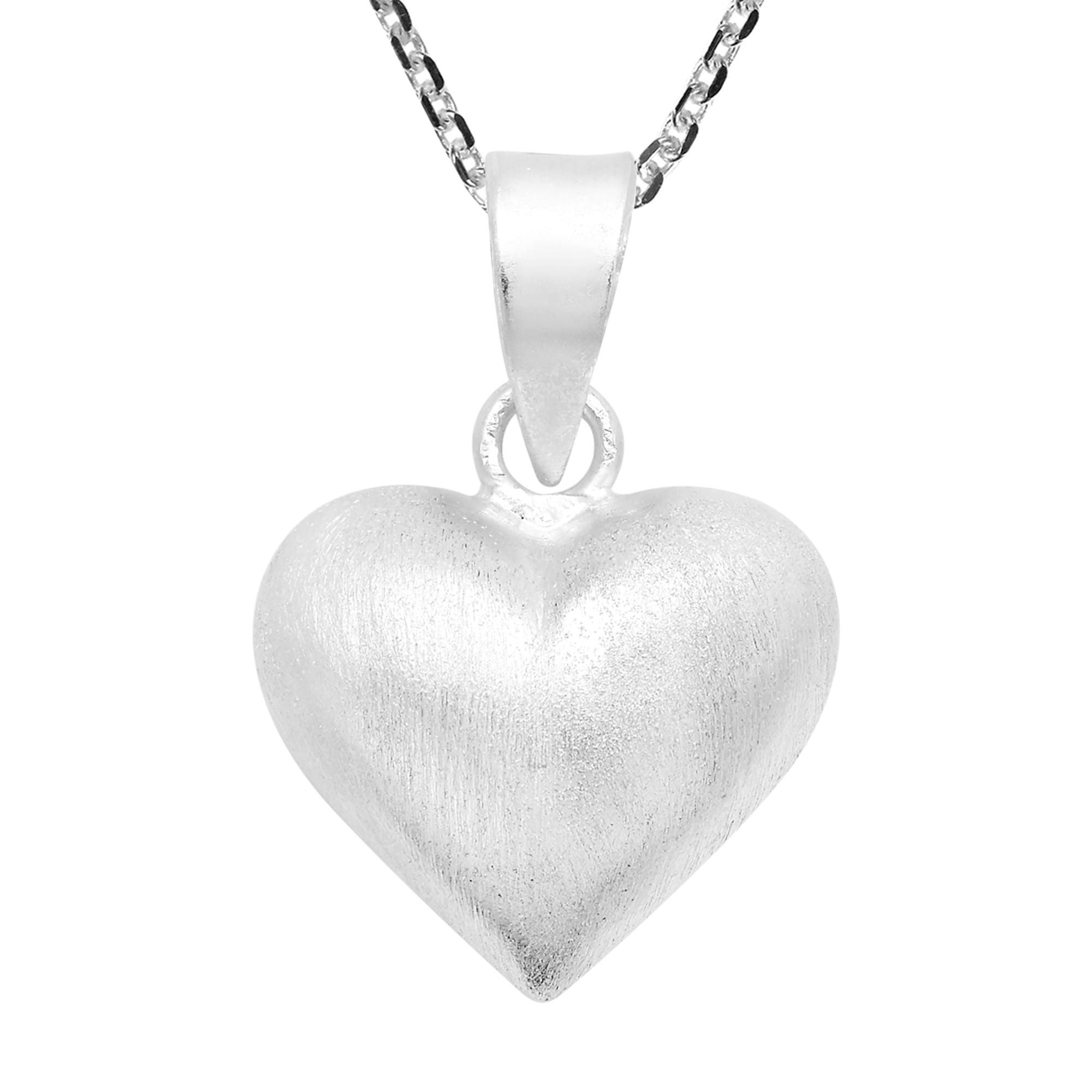 951cb838ef Handmade Romantic Matte Finish Sterling Silver Heart Necklace (Thailand). by  Aeravida