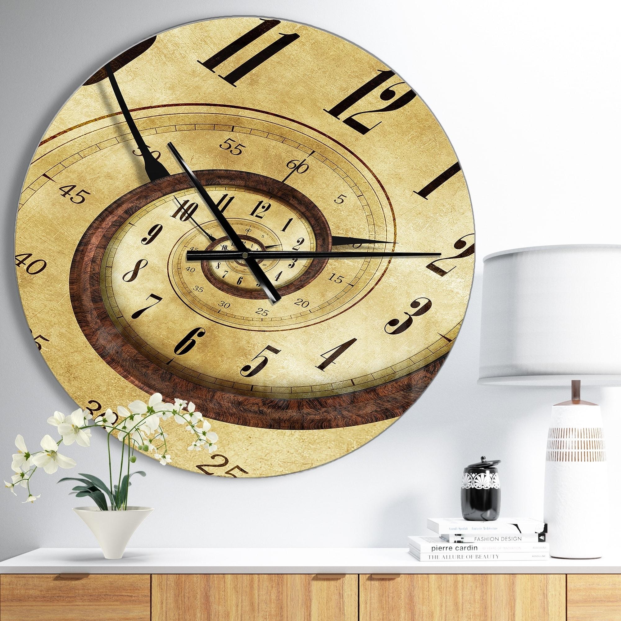 Shop Designart \'Endless Time Spiral\' Oversized Contemporary Metal ...