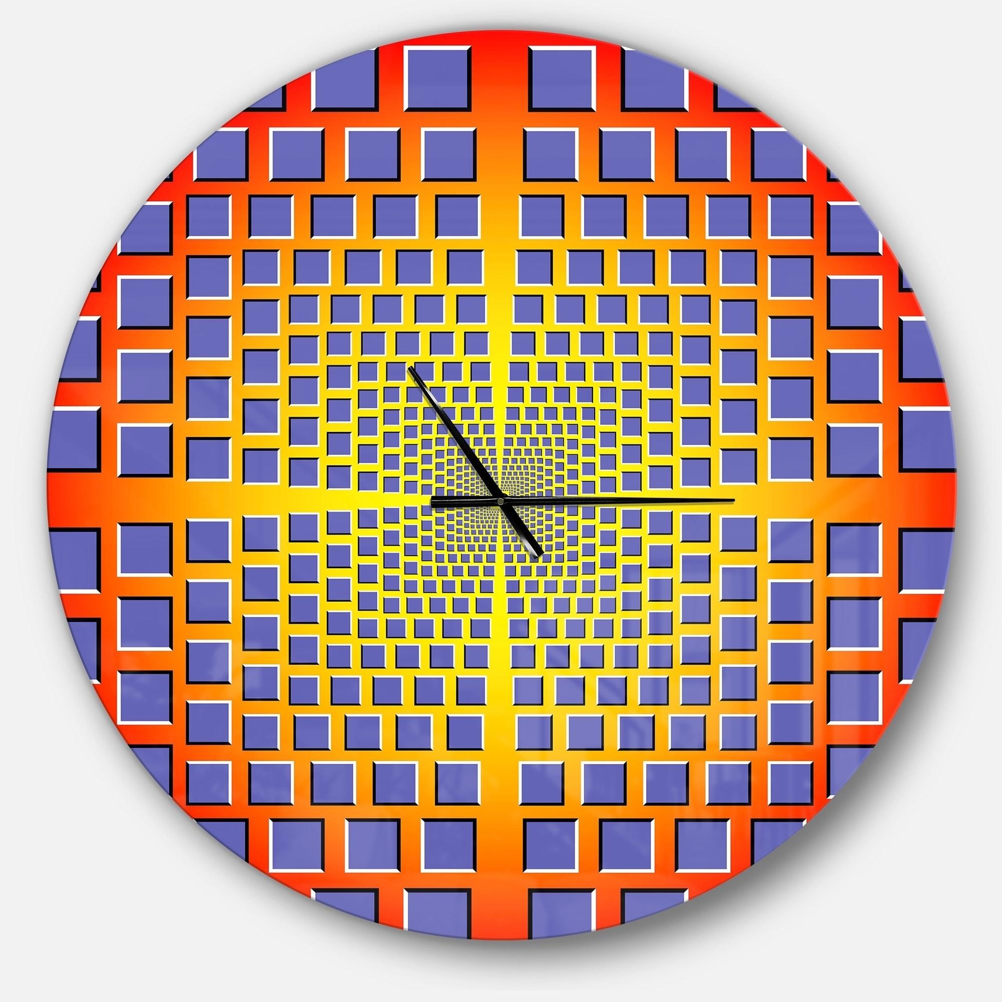 Shop Designart \'yellow Optical Illusion\' Oversized Contemporary ...