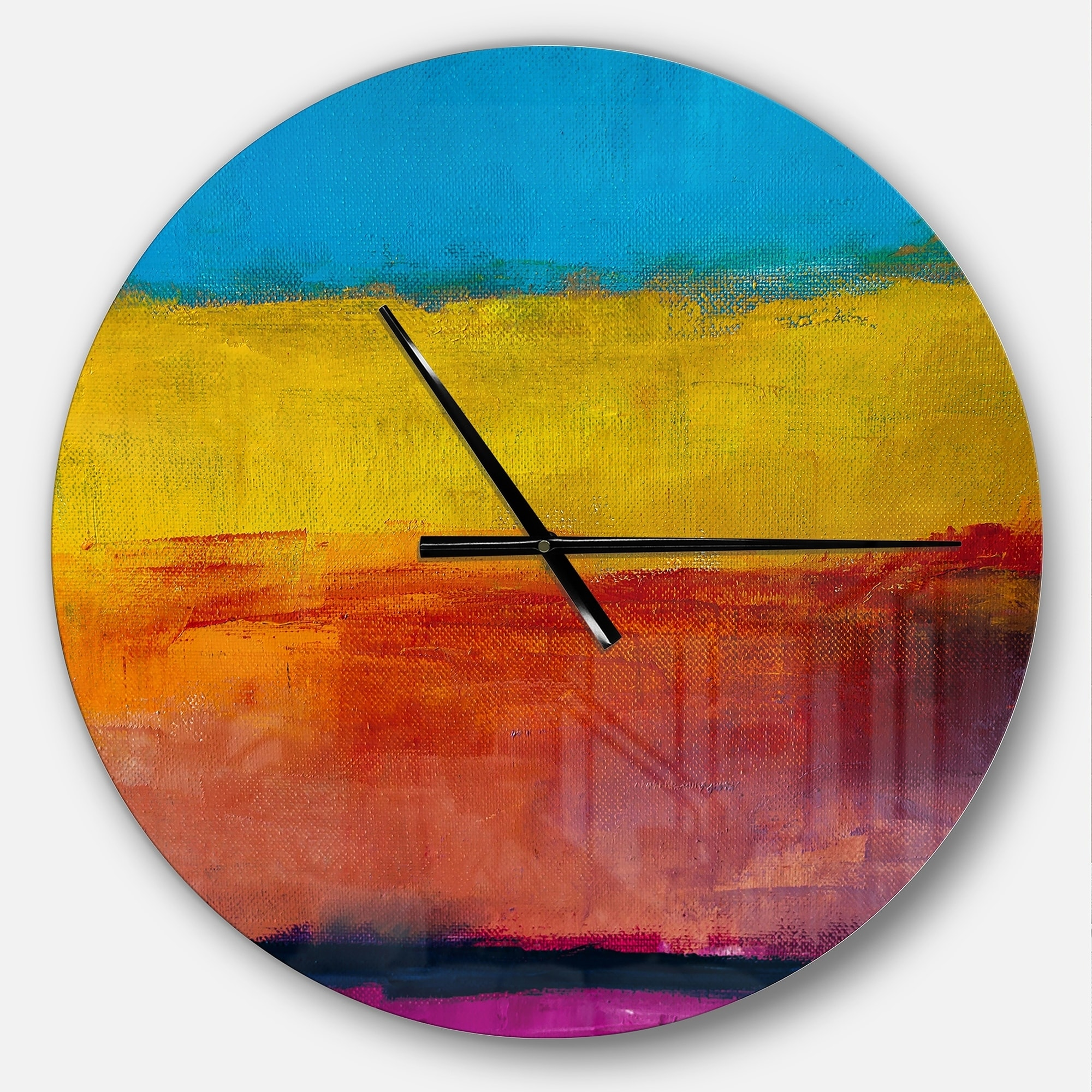 Shop Designart \'Yellow Blue Orange in Abstract Painting background ...