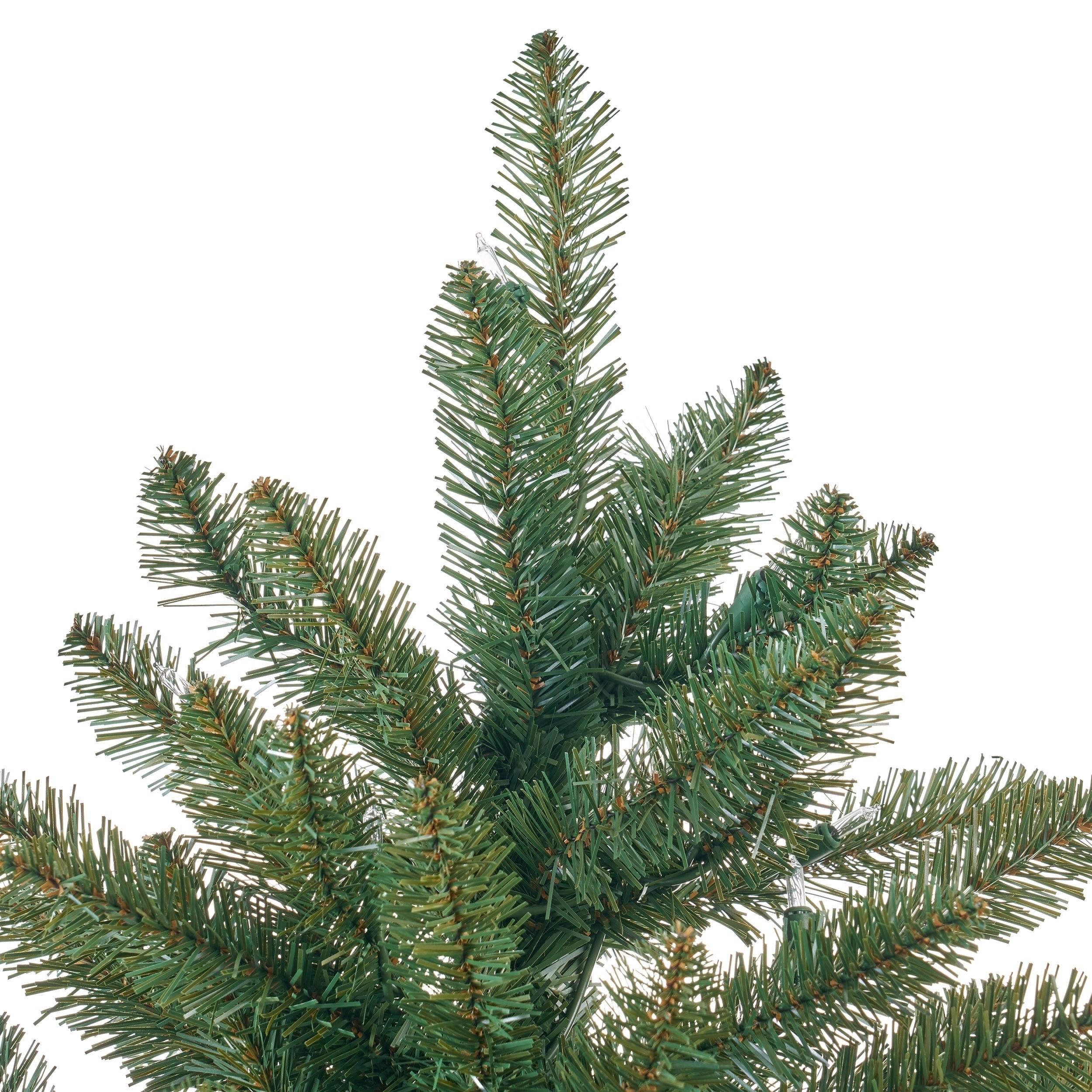 Shop 7.5-foot Norway Spruce Pre-Lit or Unlit Hinged Artificial ...