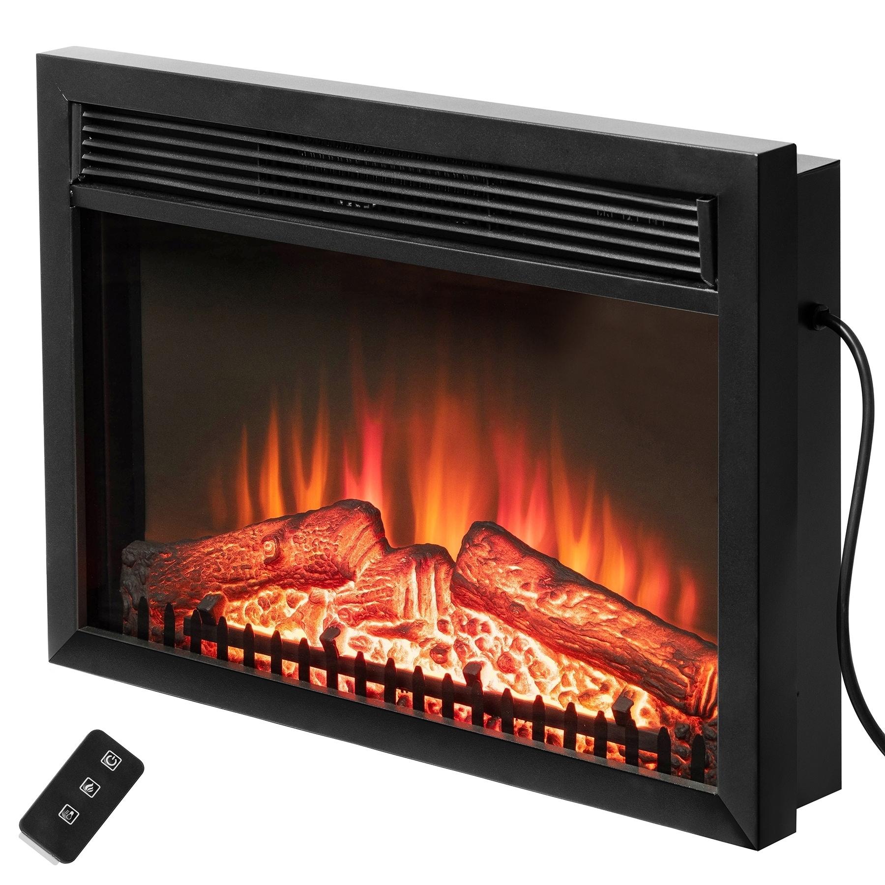 Shop Akdy Black 23 Inch Freestanding Logs Portable Electric