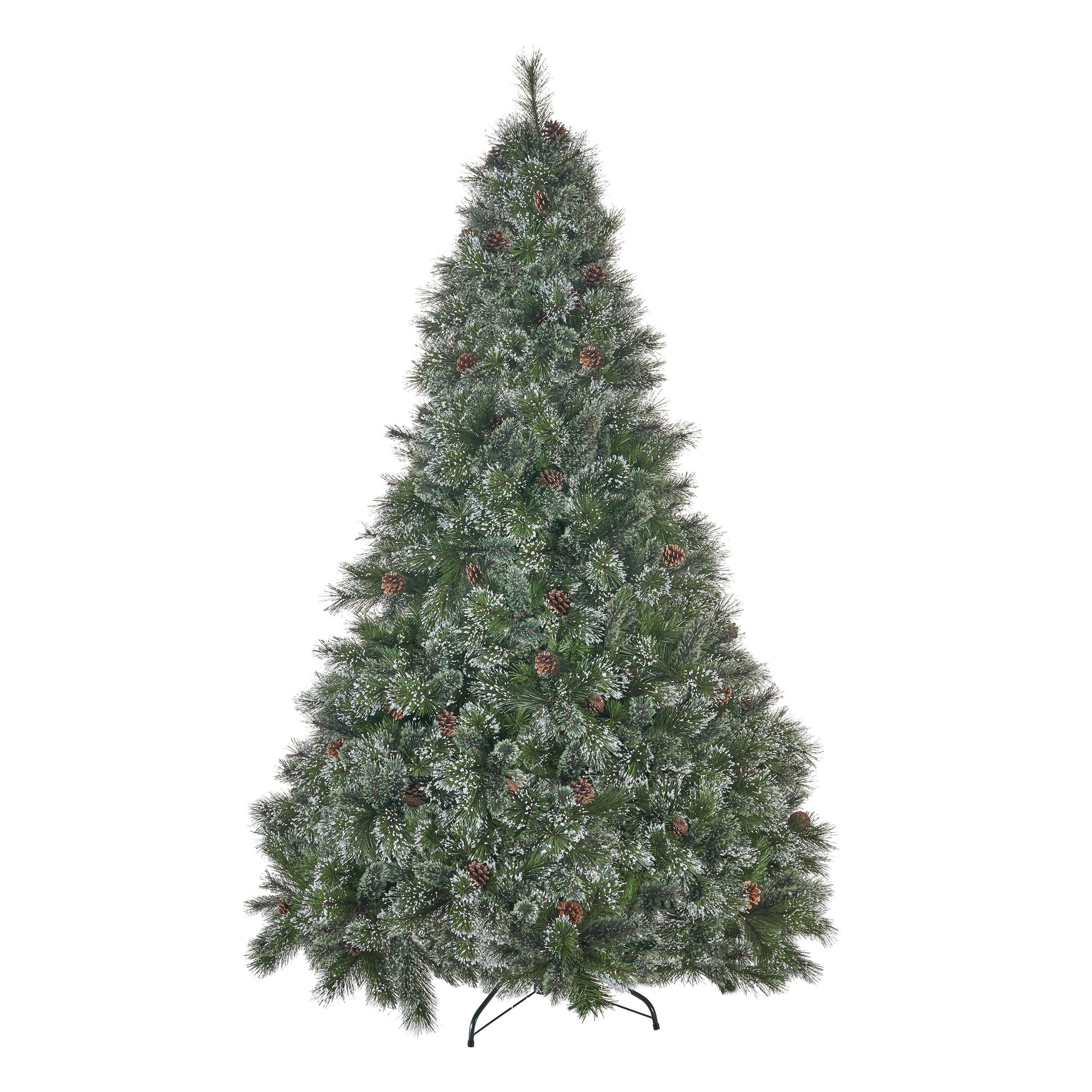 Artificial Christmas Tree Branches.9 Ft Cashmere And Spruce Pre Lit Or Unlit Artificial Christmas Tree With Snowy Branches Pinecones By Christopher Knight Home