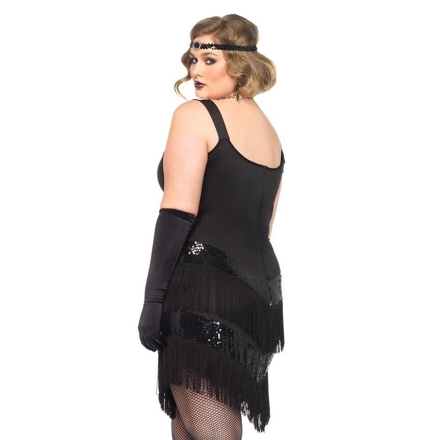 55eb0ca7fe3 Shop Leg Avenue Women s Plus-Size 2 Piece Glamour Flapper Costume 1 ...