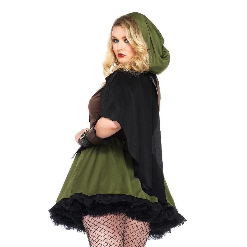 8718fe1292e Shop Leg Avenue Women s Plus-Size 3 Piece Darling Robin Hood Costume Hunter